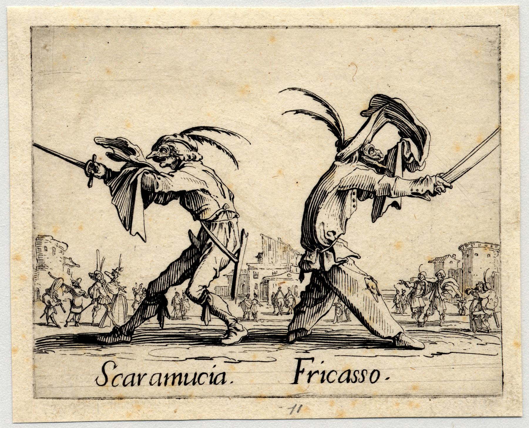 Contenu du Balli di Sfessania : Scaramucia, Fricasso
