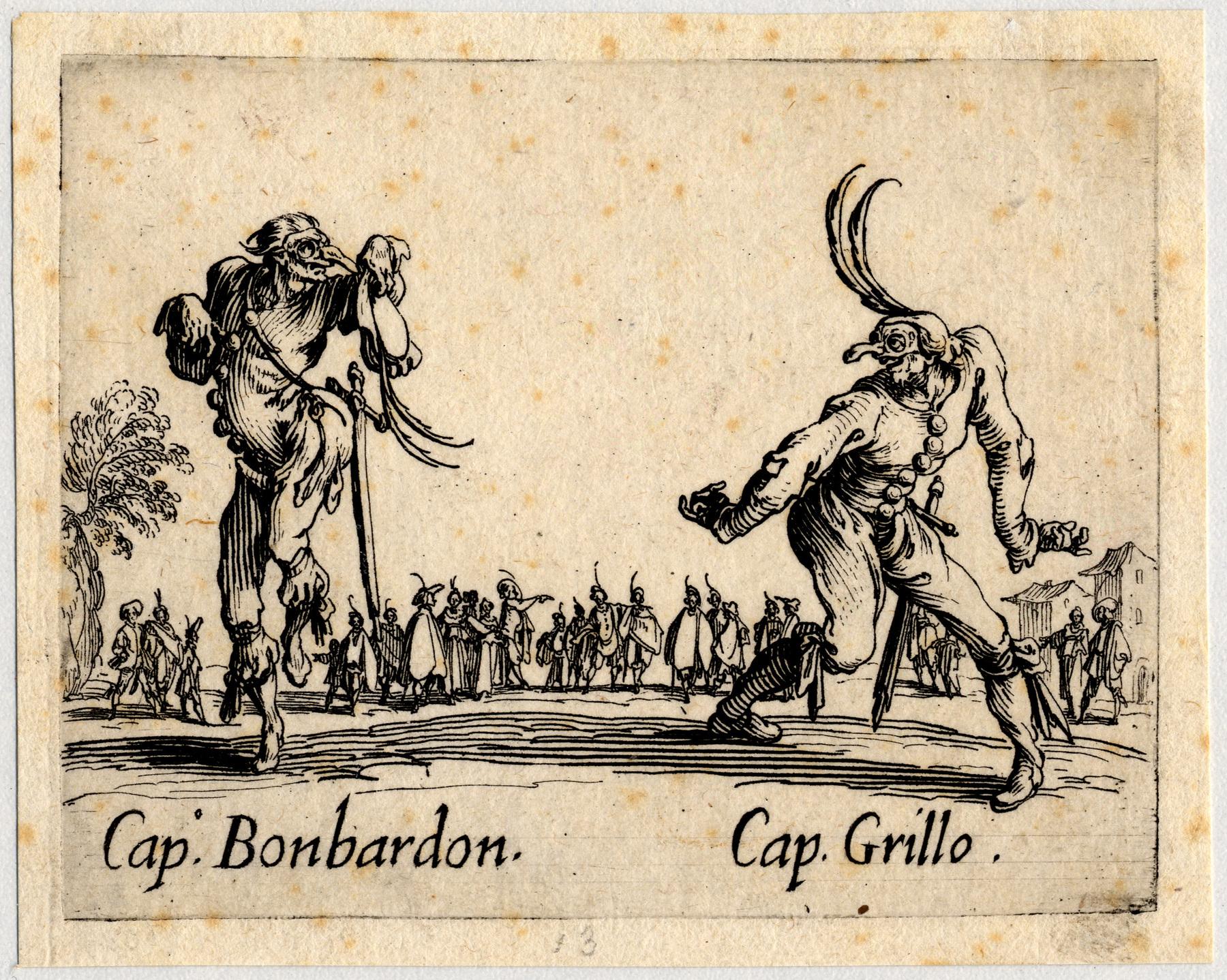 Contenu du Balli di Sfessania : Capitaine Bonbardon, Grillo