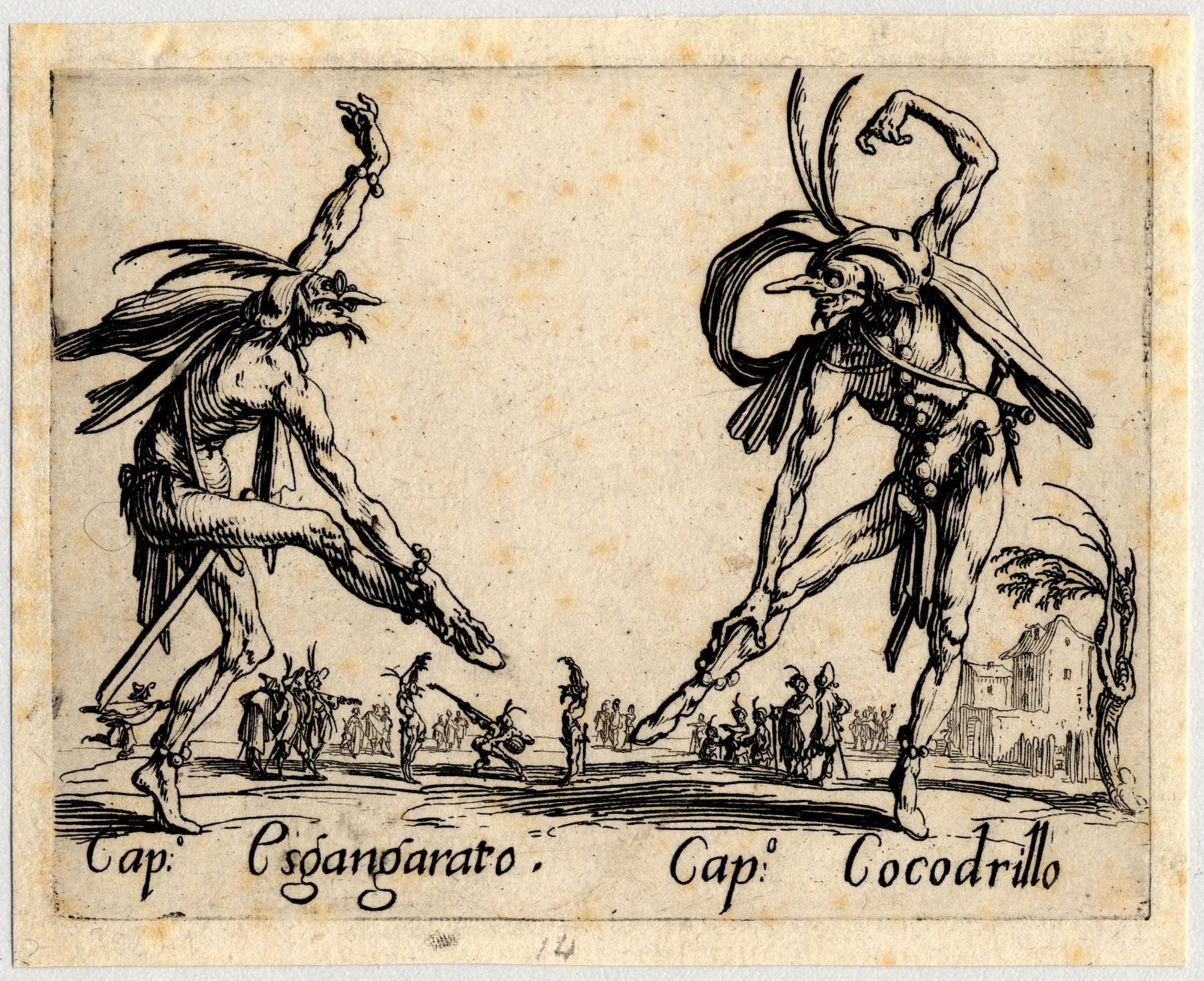 Contenu du Balli di Sfessania : Capitaine Esgangarato, Cocodrillo