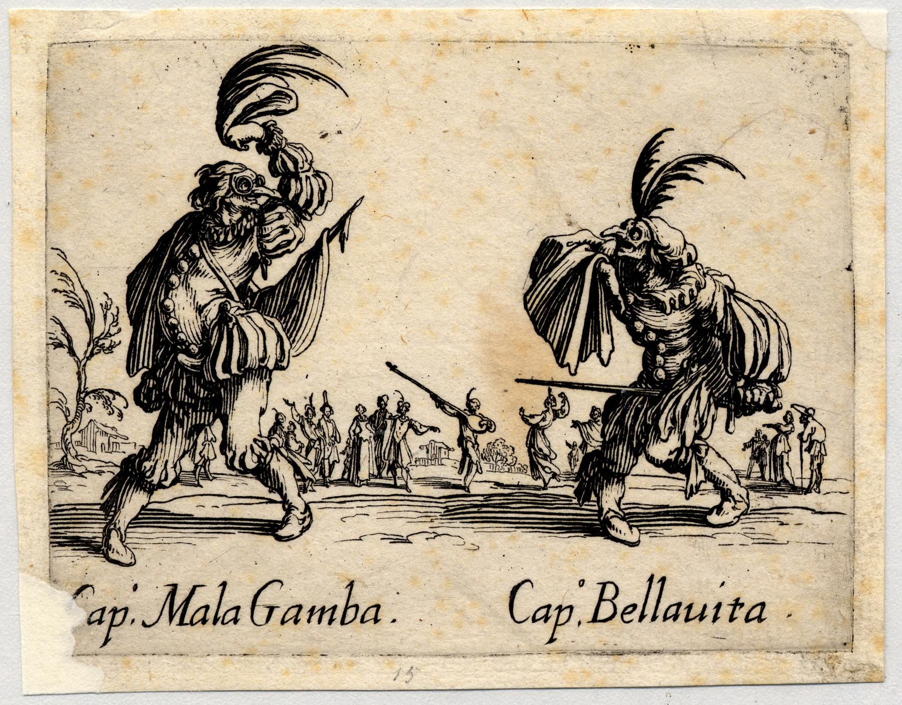 Contenu du Balli di Sfessania : Capitaine Mala Gamba, Bellavita