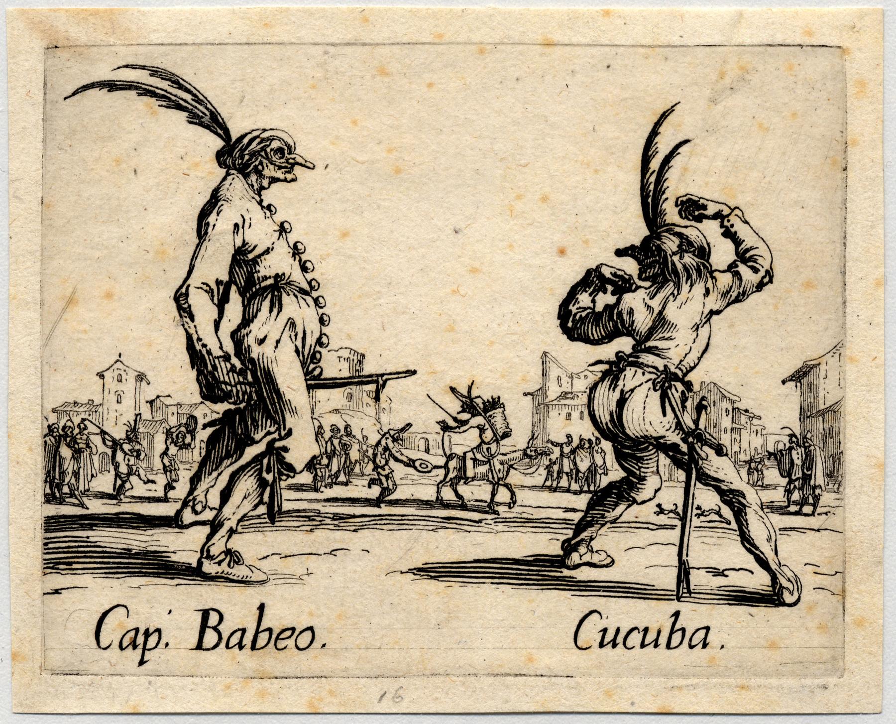 Contenu du Balli di Sfessania : Capitaine Babeo, Cucuba