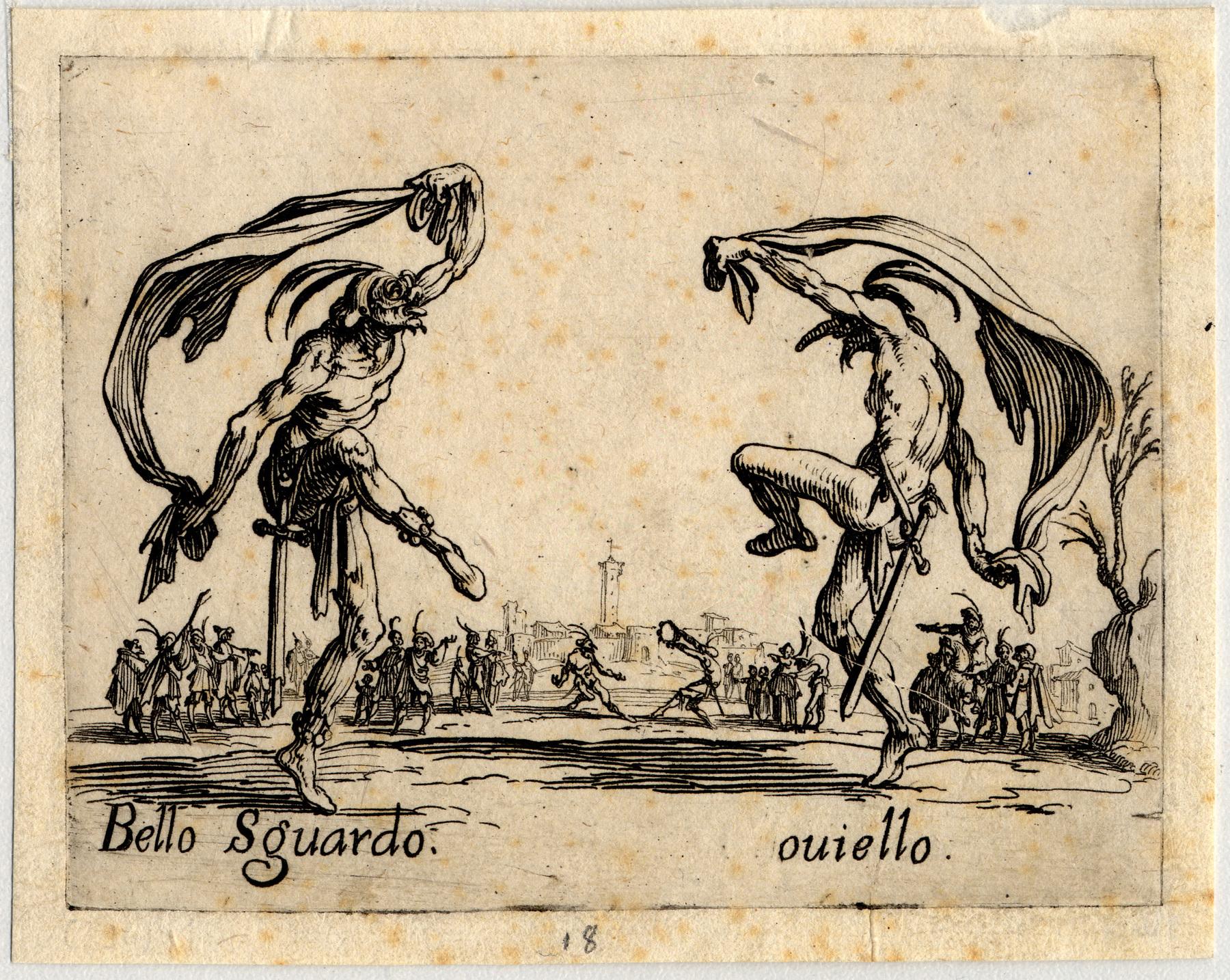 Contenu du Balli di Sfessania : Bello Sguardo, Couiello