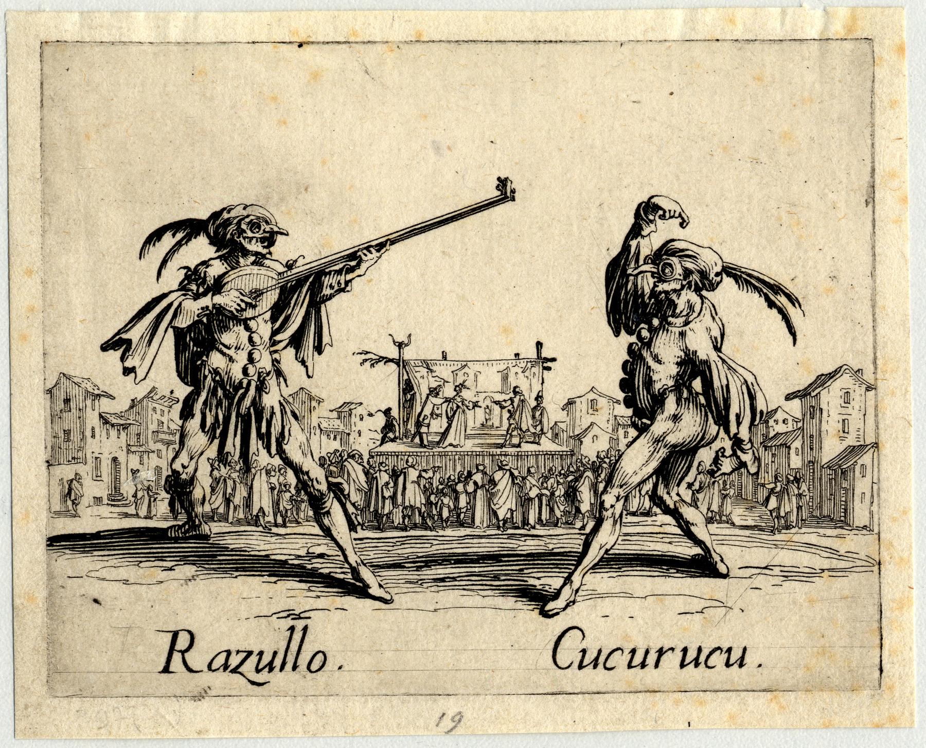 Contenu du Balli di Sfessania : Razullo, Cucurucu