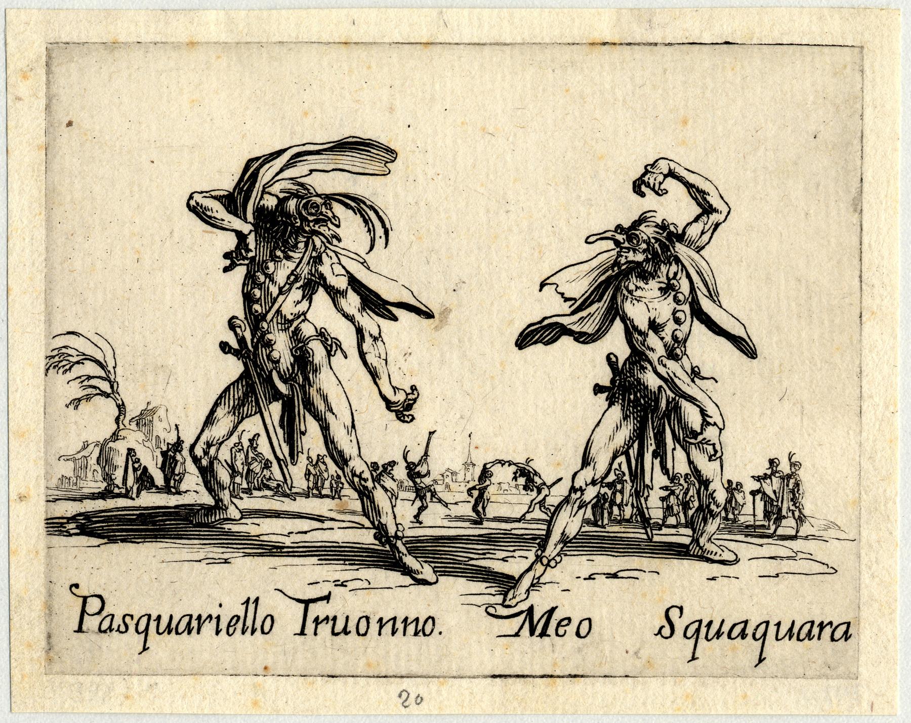 Contenu du Balli di Sfessania : Pasquariello Truonno, Meo Squaquara