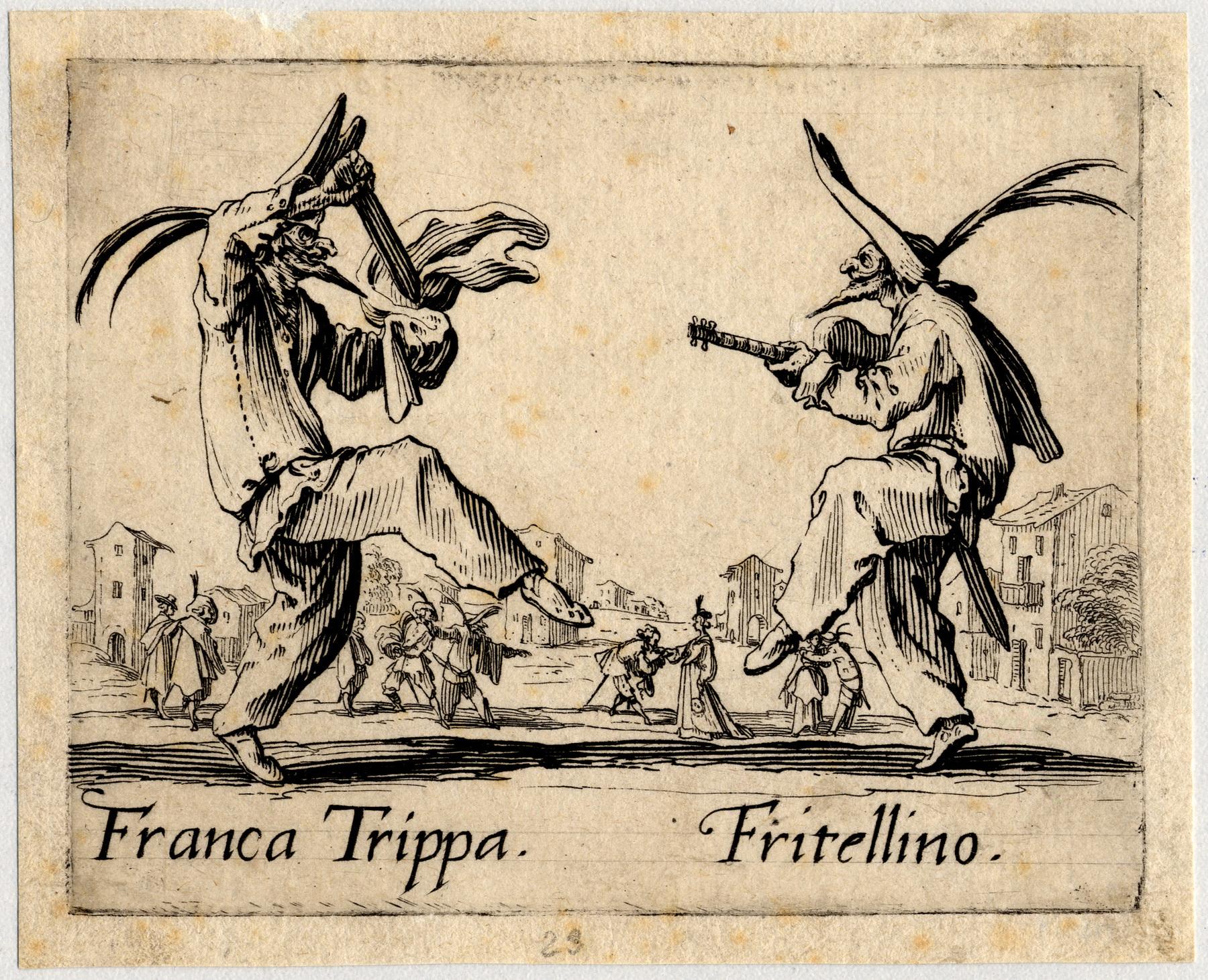 Contenu du Balli di Sfessania : Franca Trippa, Fritellino