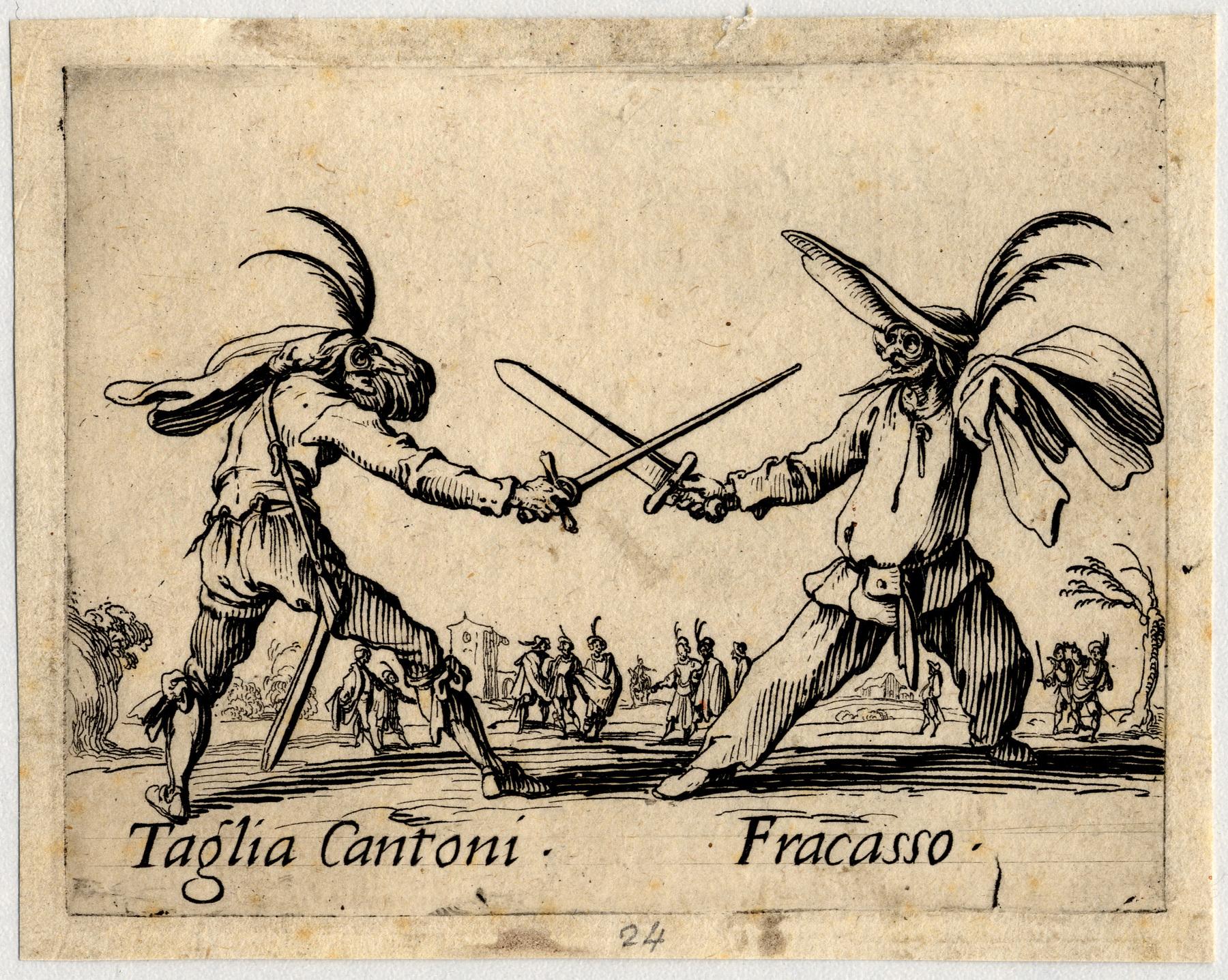 Contenu du Balli di Sfessania : Taglia Cantoni, Fracasso