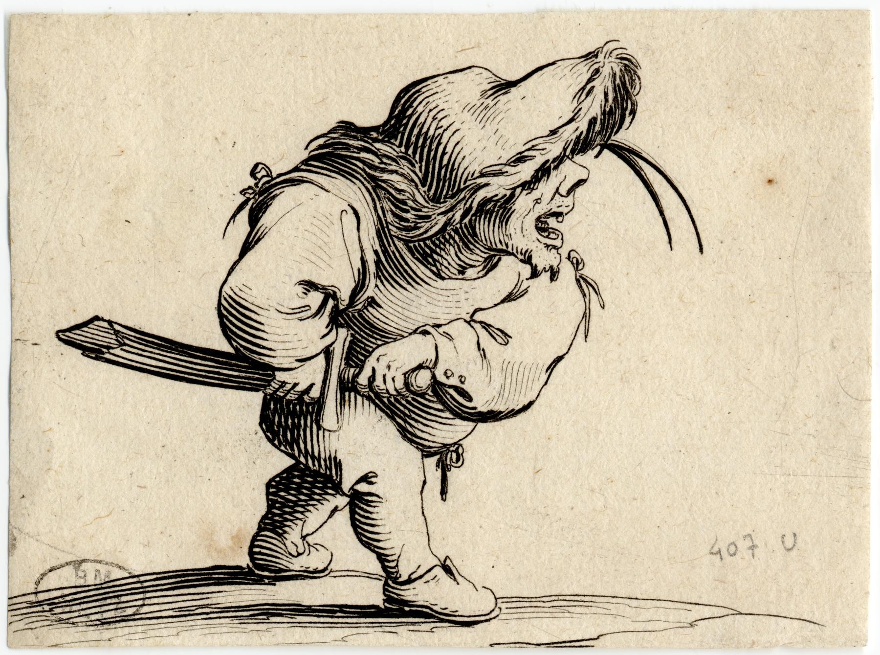 Contenu du Les Gobbi: L'homme s'apprêtant à tirer son sabre