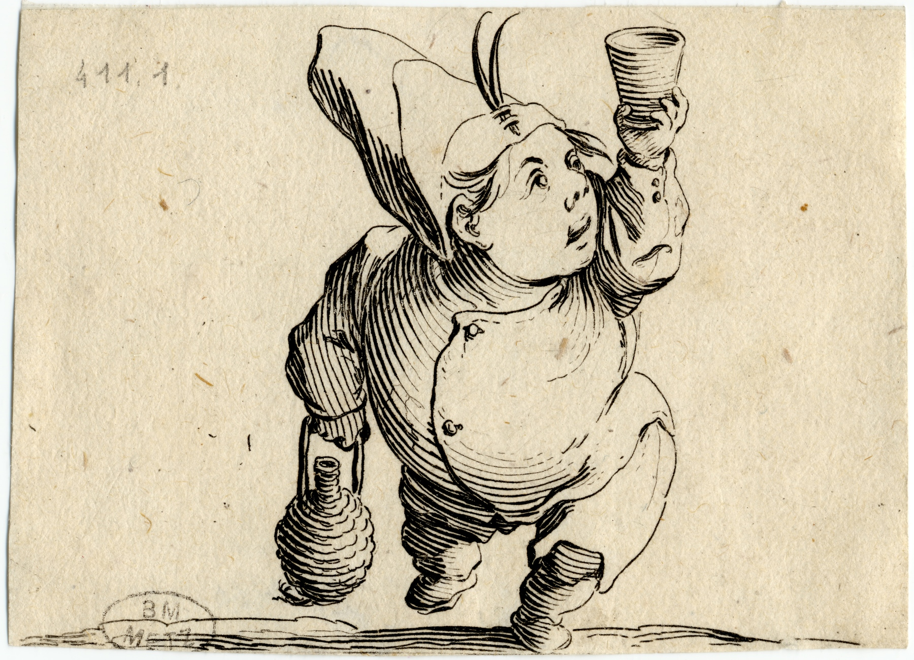 Contenu du Les Gobbi: Le buveur vu de face