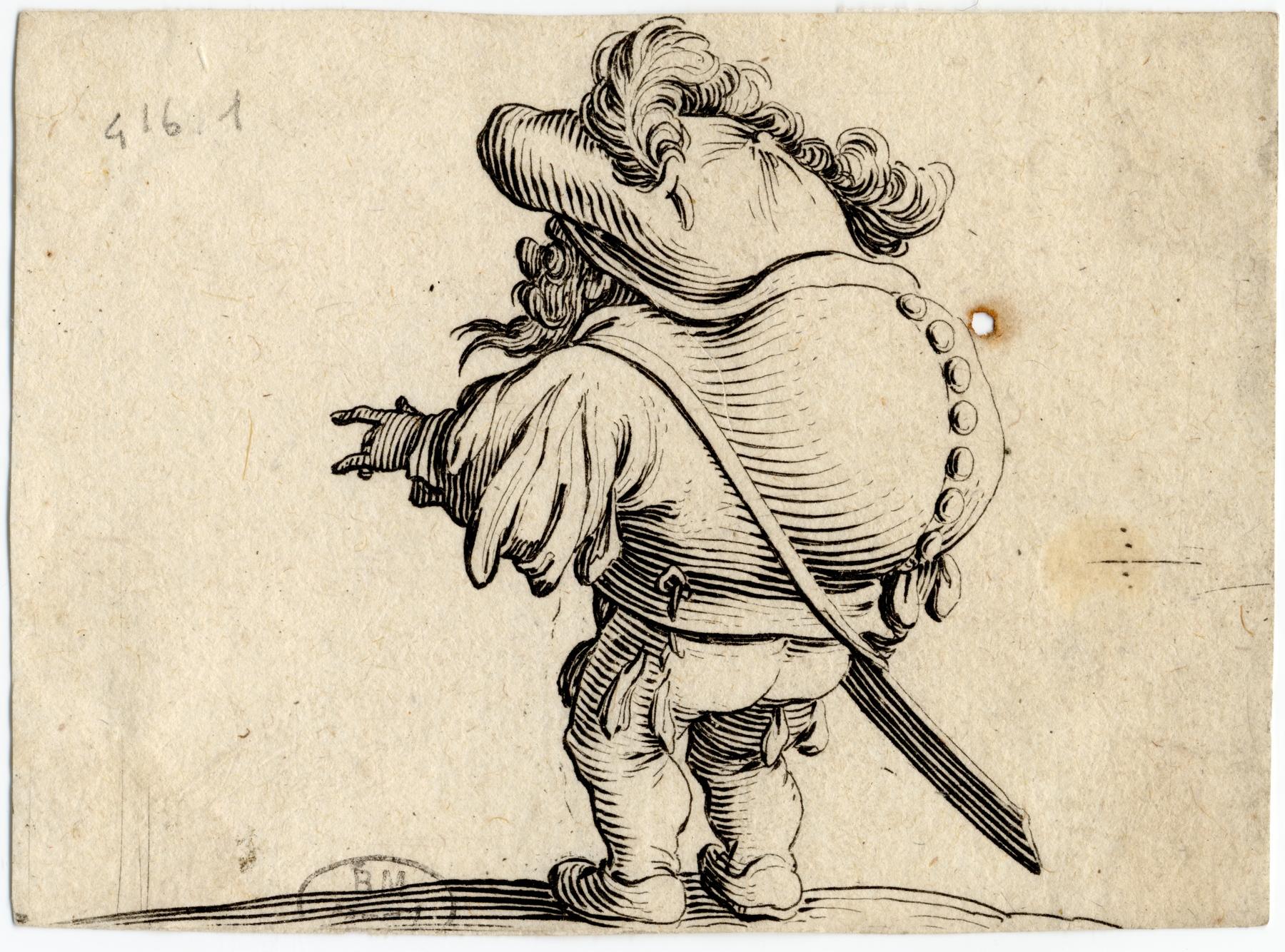 Contenu du Les Gobbi: L'homme au gros dos orné d'une rangée de boutons