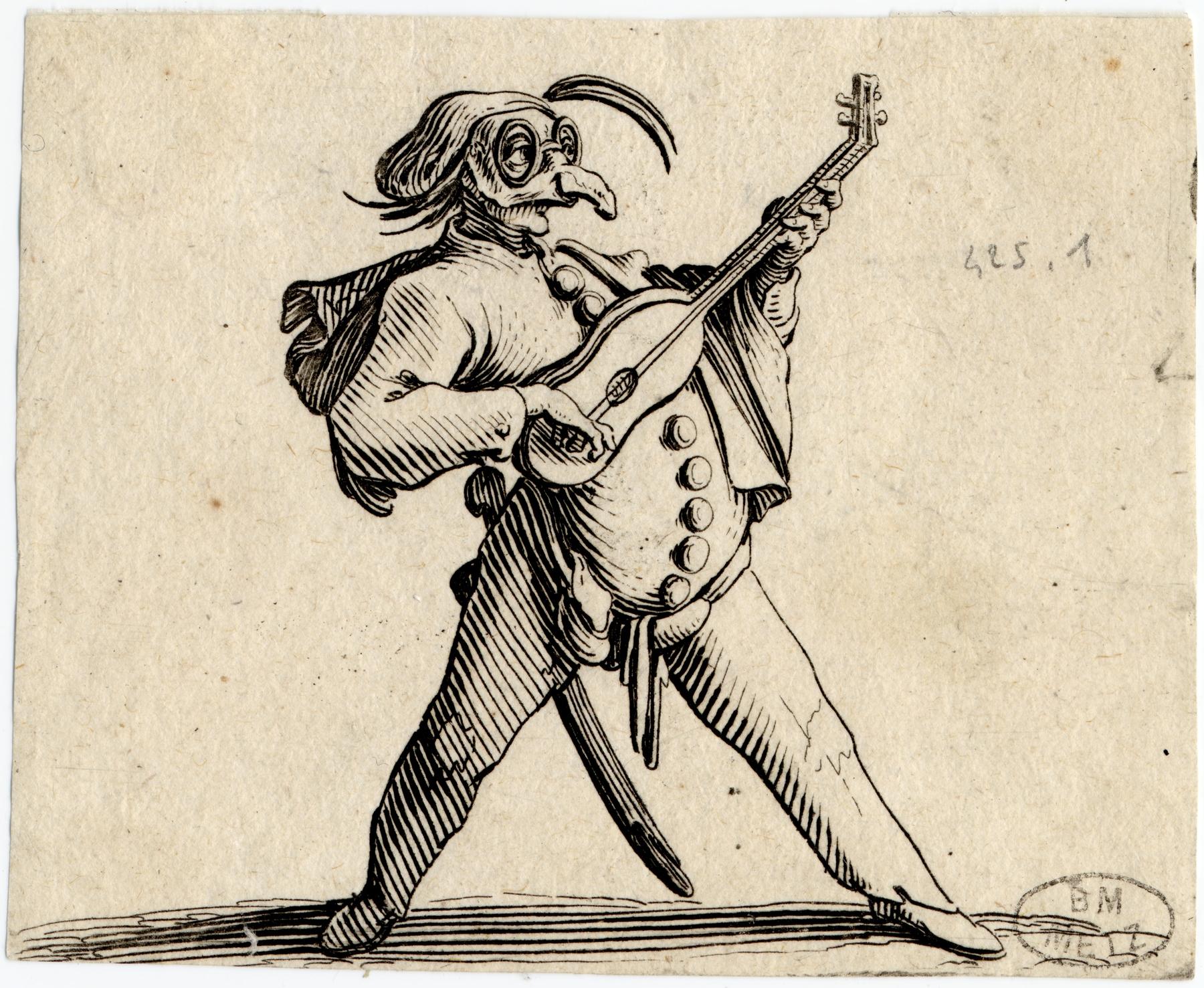 Contenu du Les Gobbi: Le comédien masqué jouant de la guitare