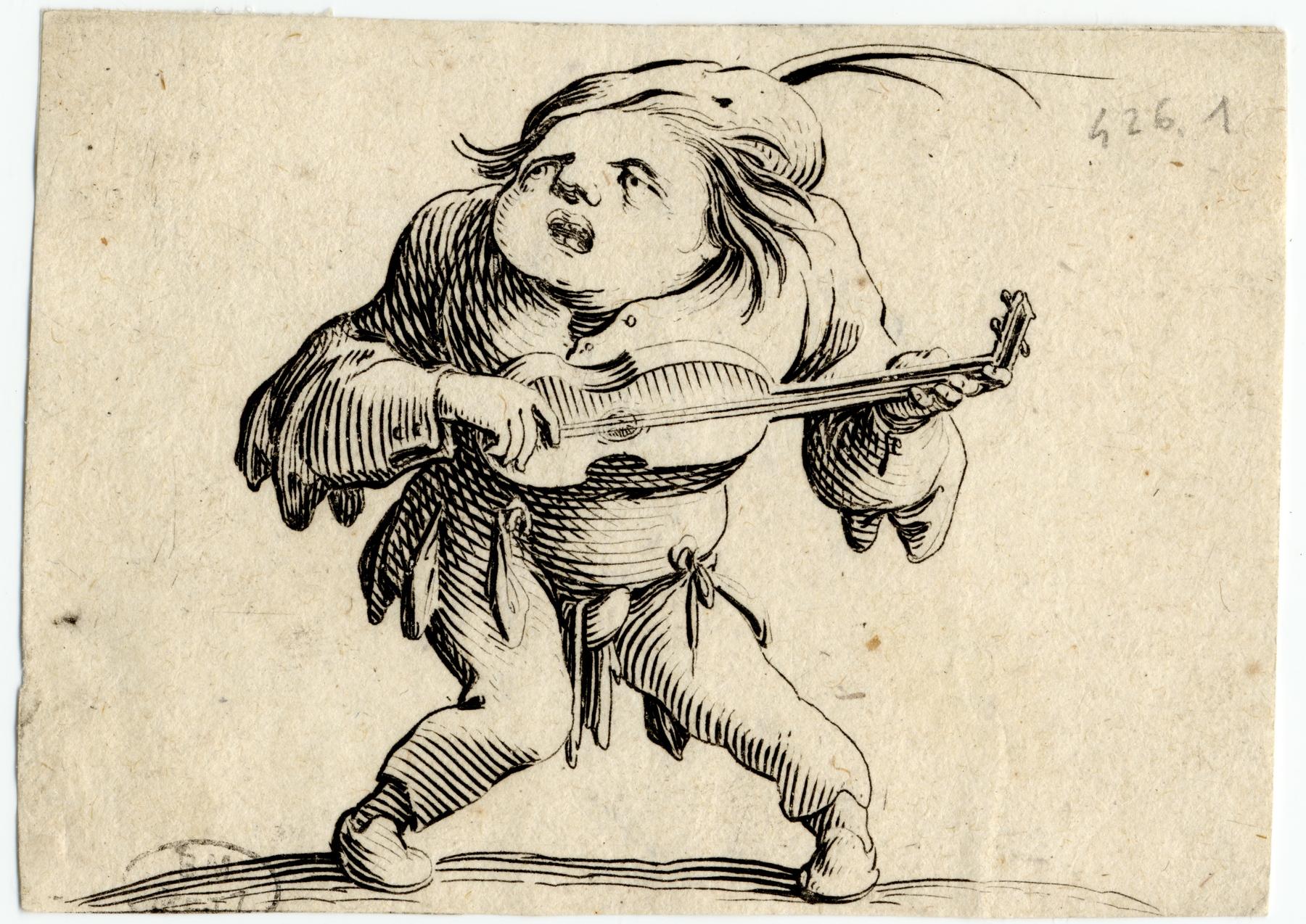 Contenu du Les Gobbi: La bancal jouant de la guitare