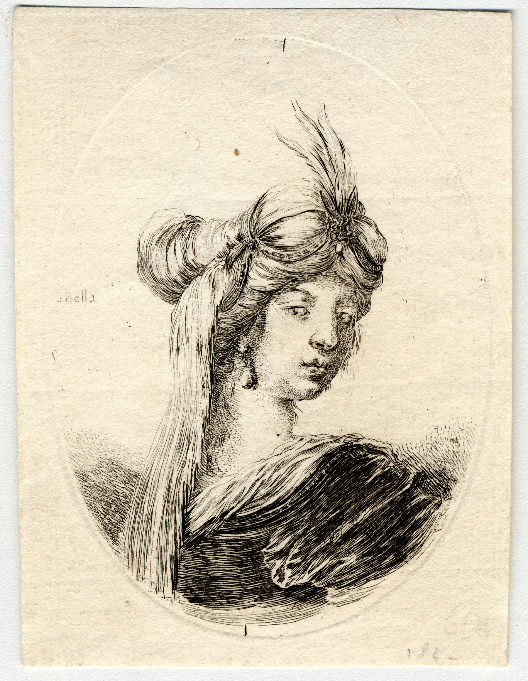 Contenu du Plusieurs têtes coifféees à la persienne: Femme vue de dos