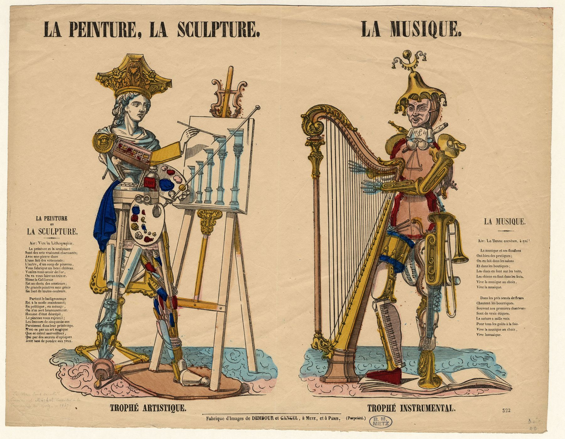 Contenu du La Peinture la sculpture / la musique