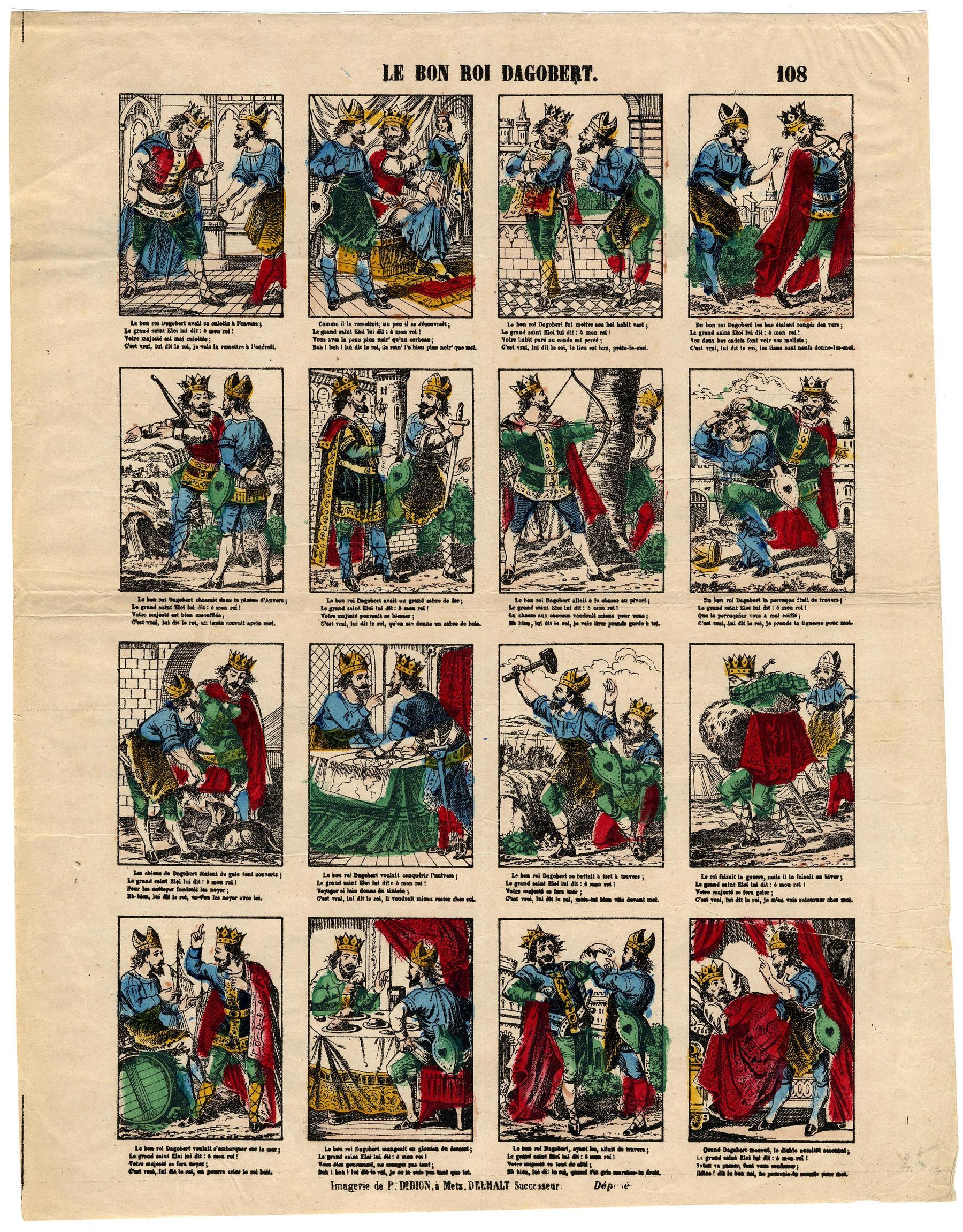 Contenu du Le Bon roi Dagobert