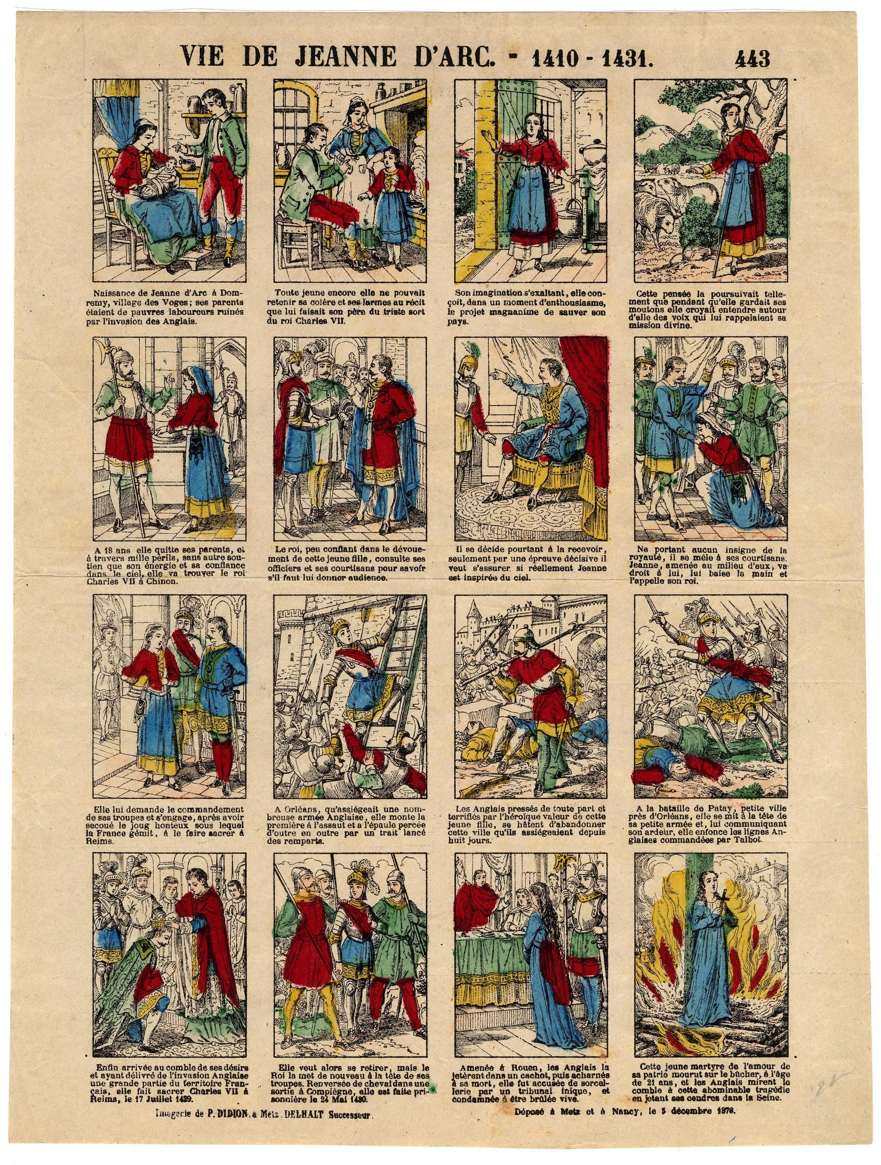 Contenu du Jeanne d'Arc