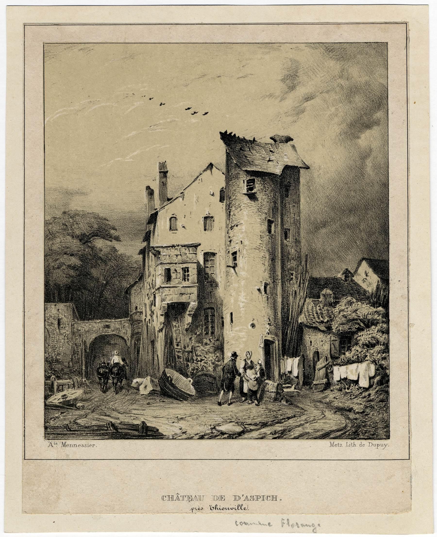 Contenu du Château de d'Aspich près Thionville