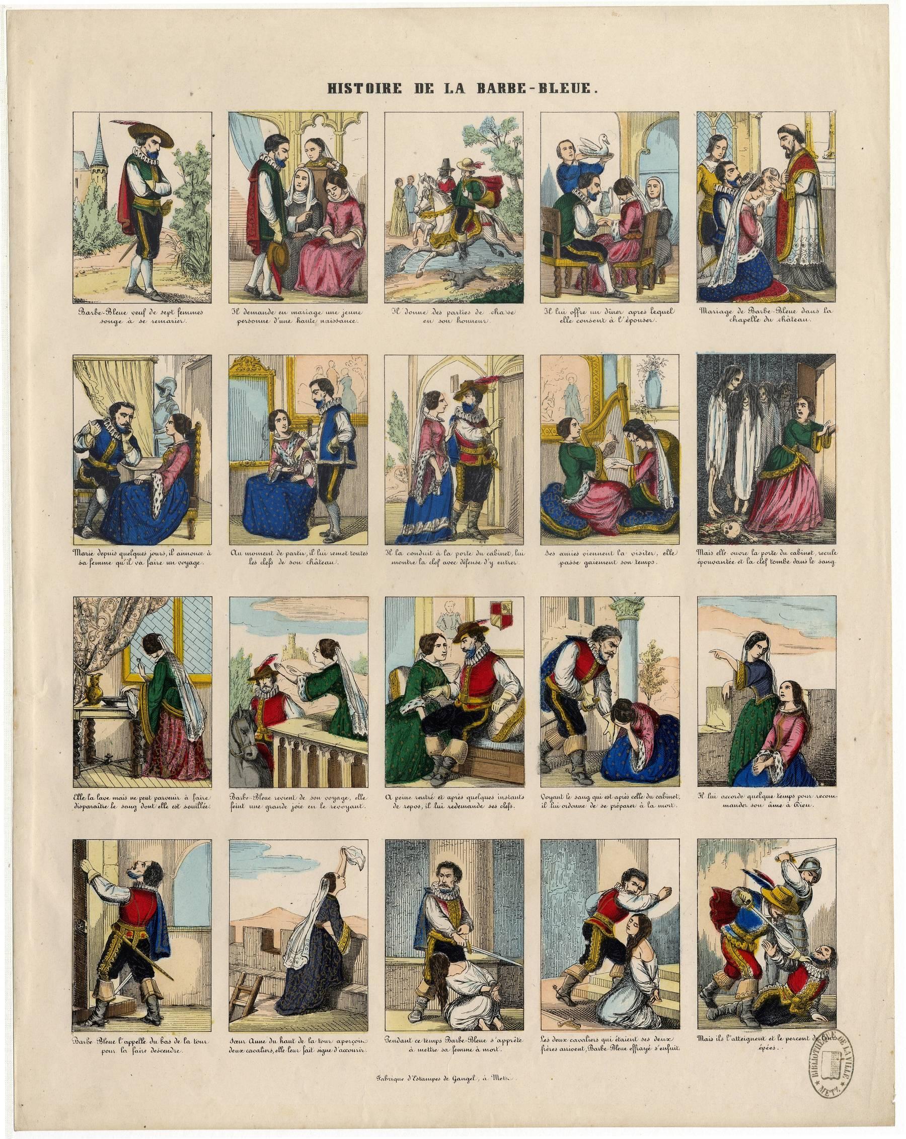 Contenu du Histoire de la Barbe-bleue