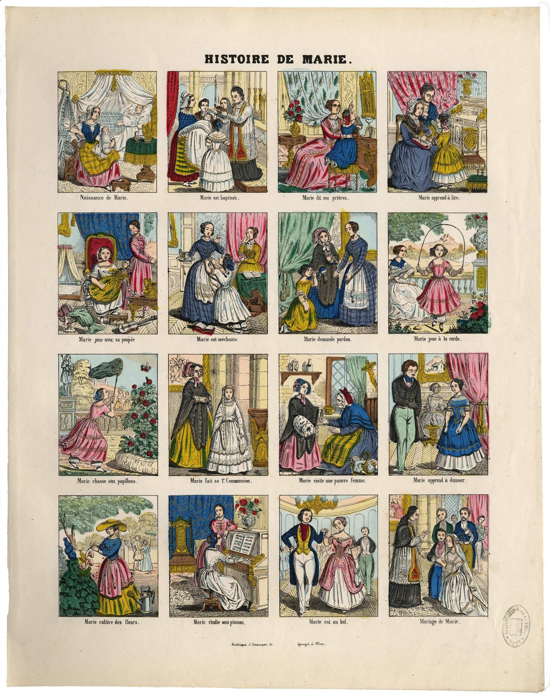 Contenu du Histoire de Marie