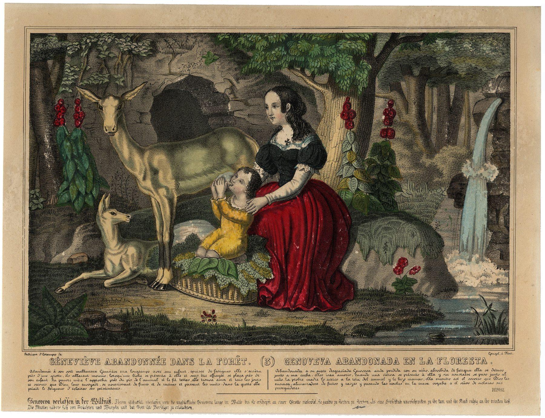 Contenu du Geneviève abandonnée dans la forêt