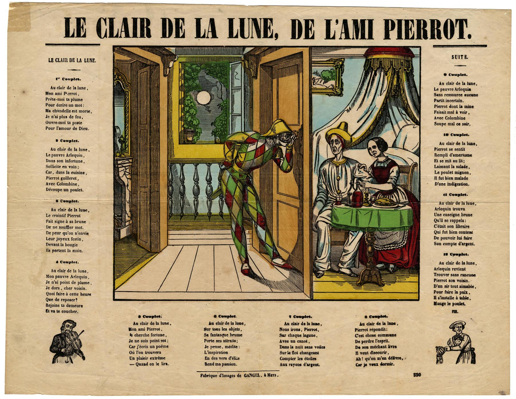 Contenu du Le Clair de la lune de l'ami Pierrot