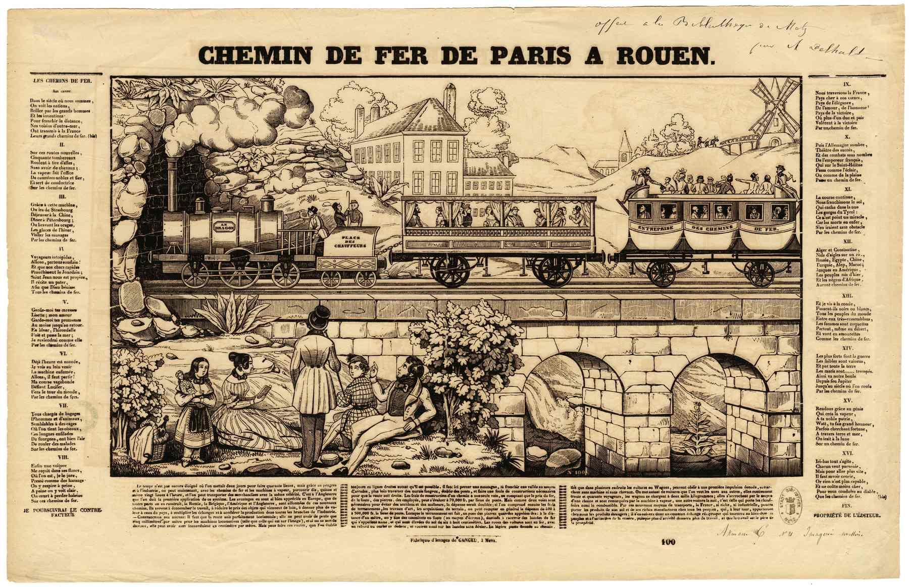 Contenu du Chemin de fer de Paris à Rouen