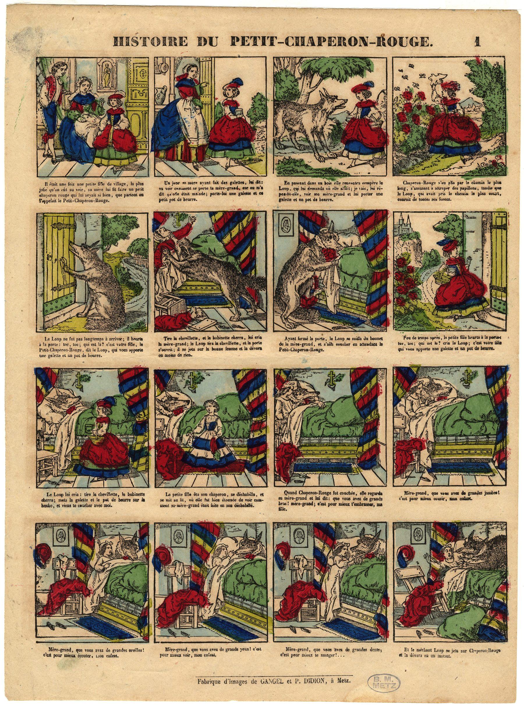 Contenu du Imagerie populaire - Histoire du Petit Chaperon rouge