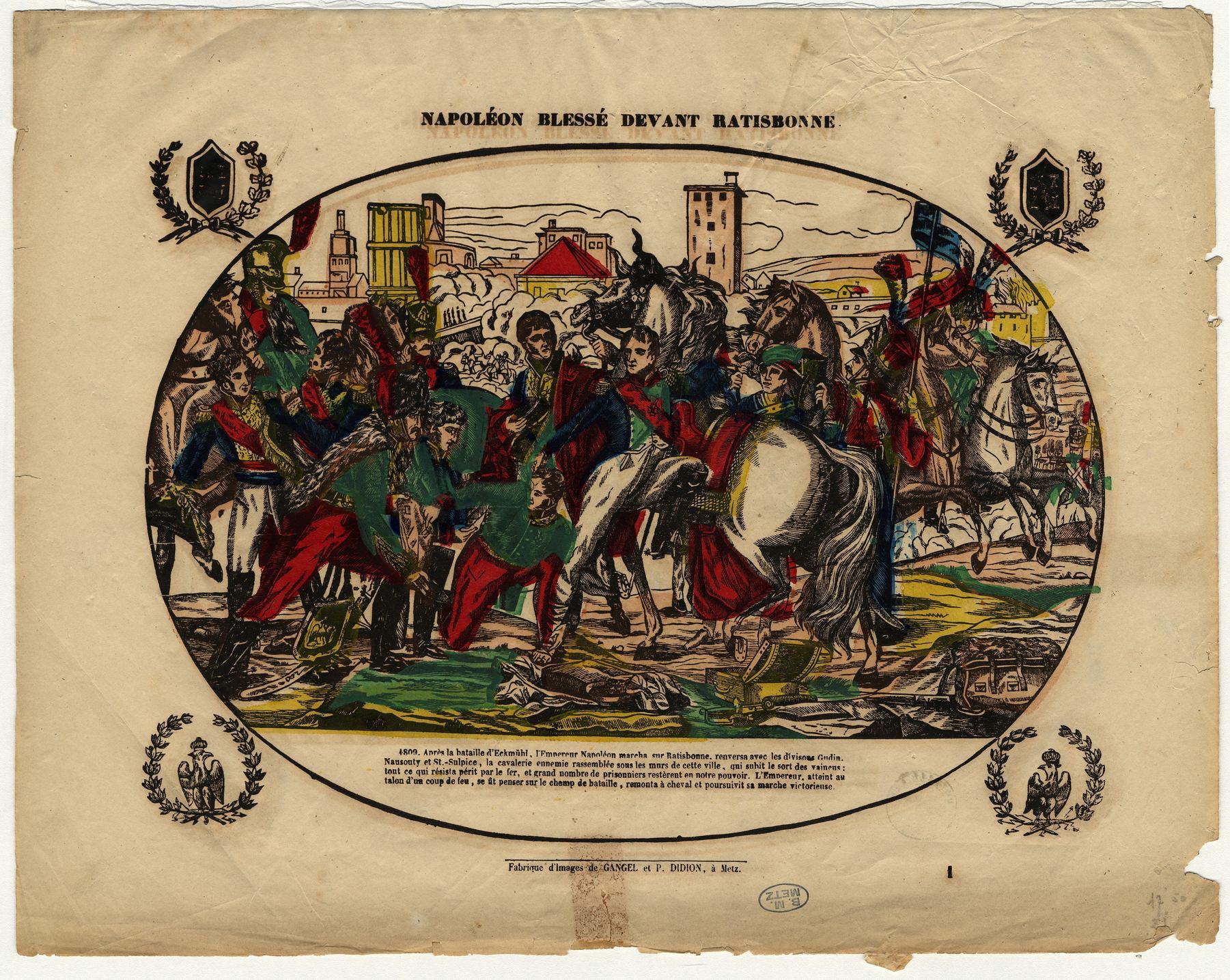 Contenu du Napoléon blessé devant Ratisbonne