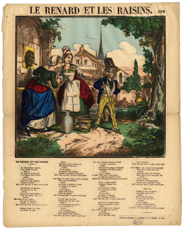 Contenu du Le Renard et les raisins