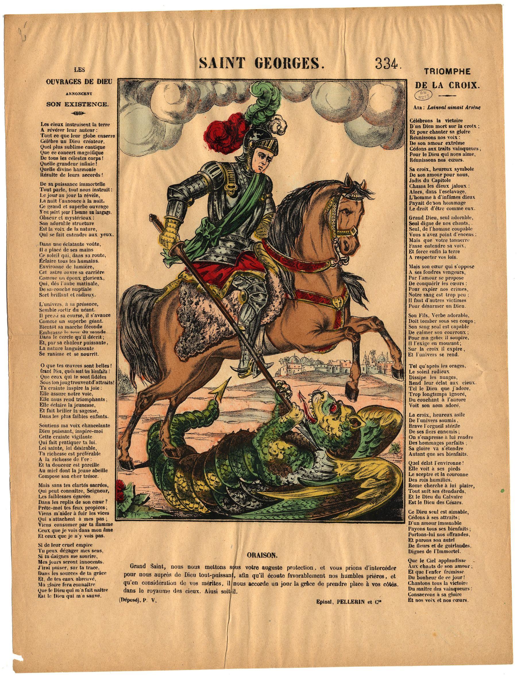 Contenu du Saint Georges terrassant le dragon