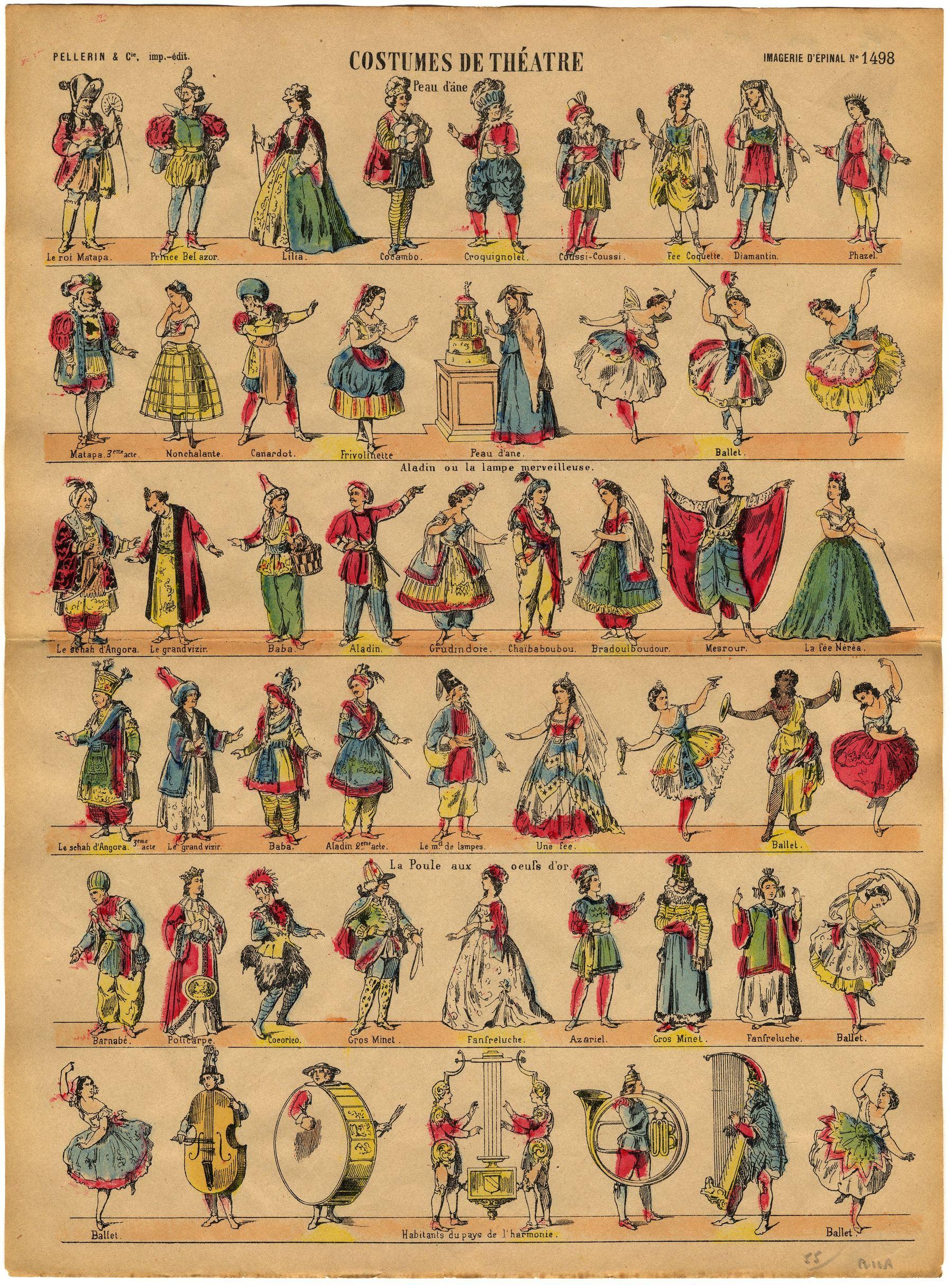 Contenu du Costumes de théâtre : Peau d'âne