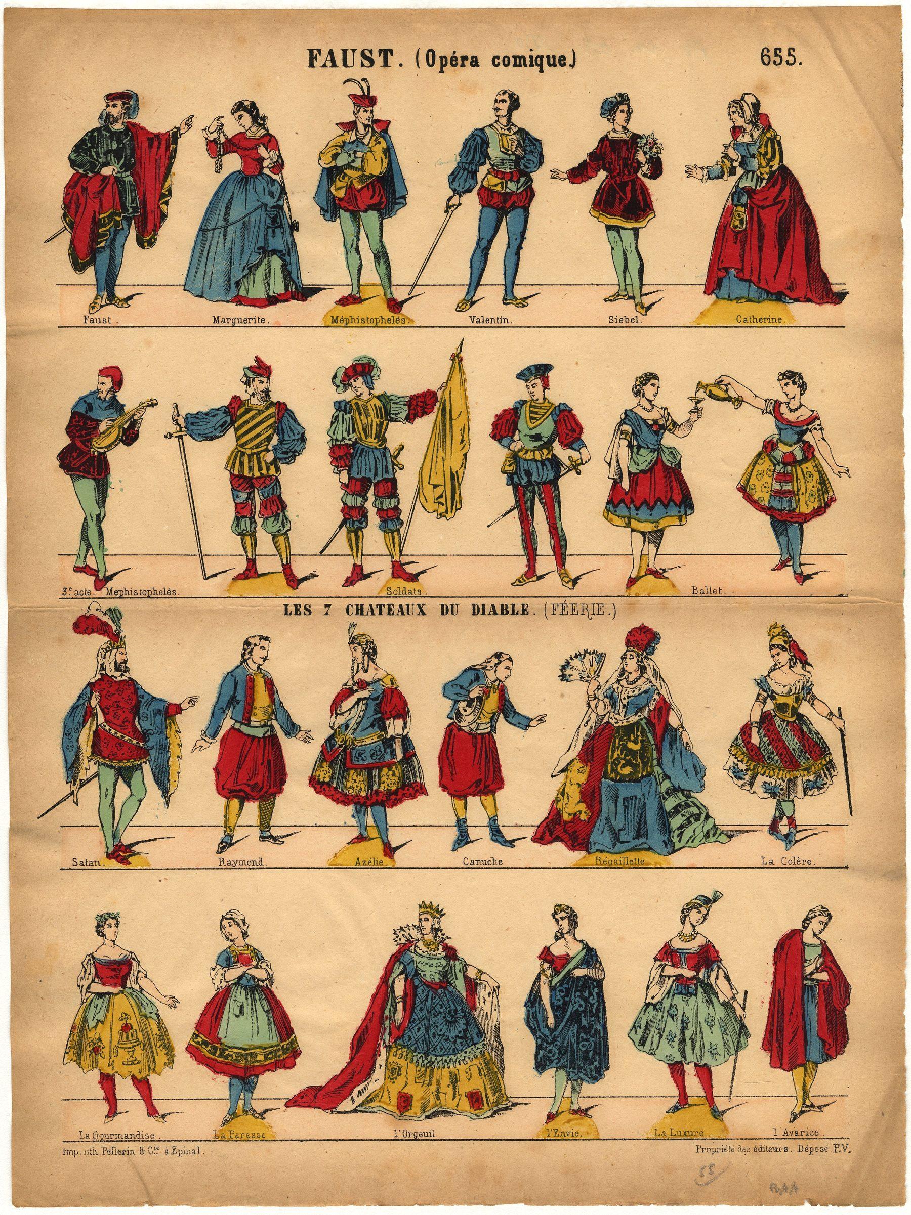 Contenu du Faust : opéra comique