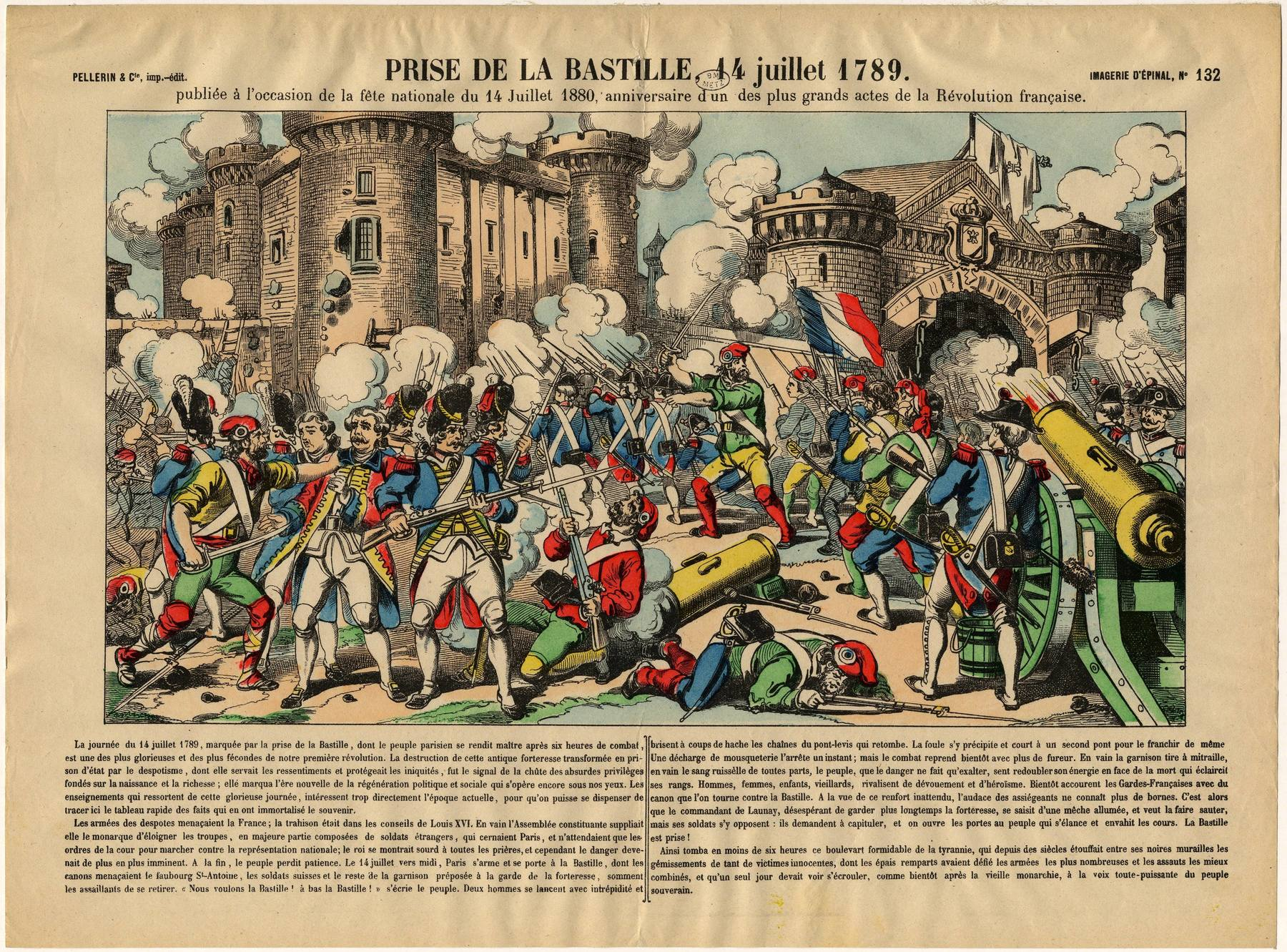 Contenu du Estampe de la Prise de la Bastille