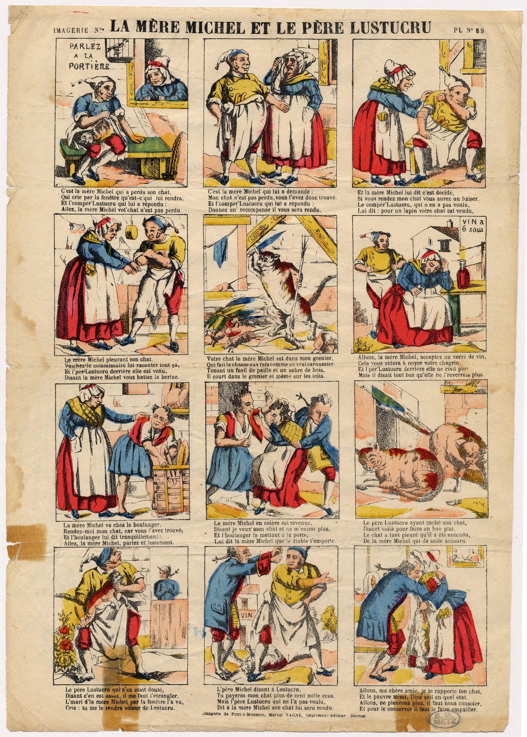 Contenu du La mère Michel et le père Lustucru