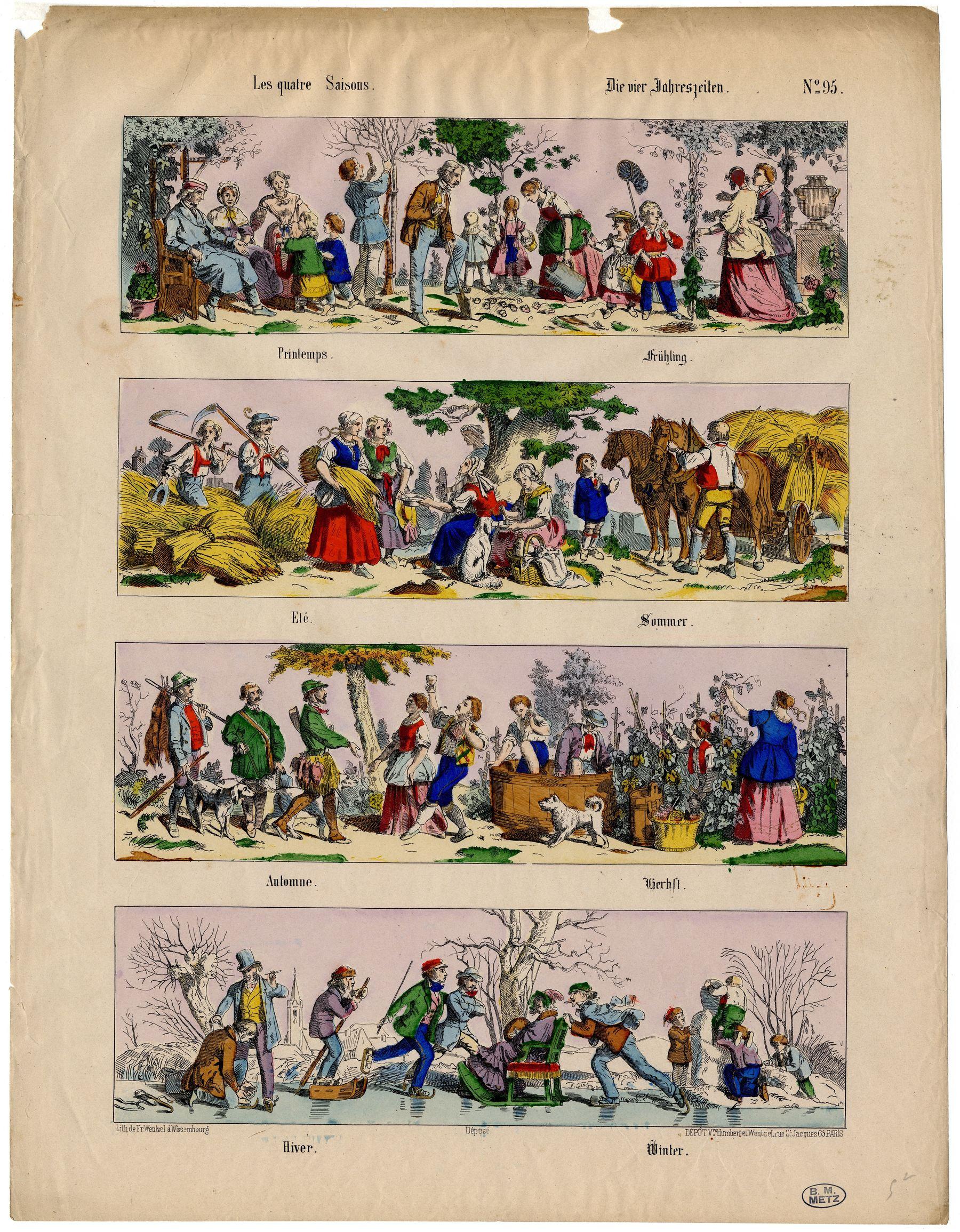 Contenu du Les quatre saisons – Die vier Jahreszeiten