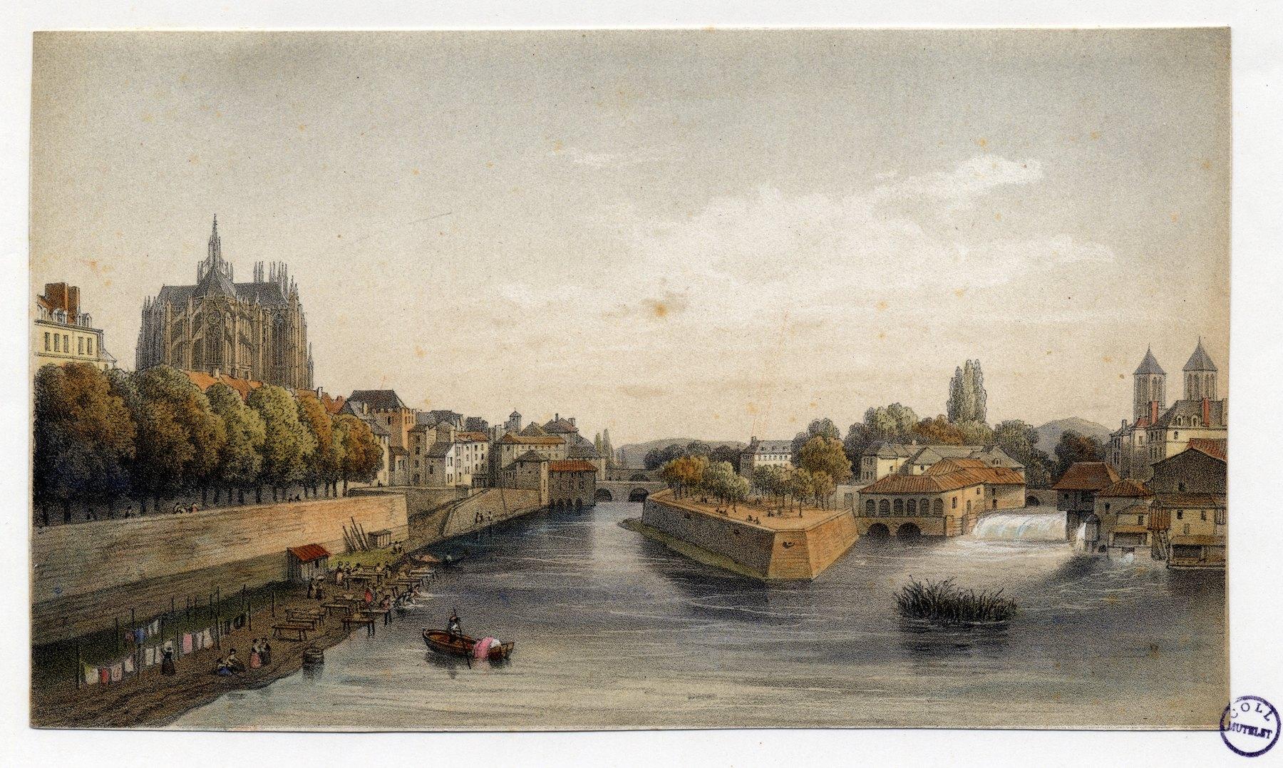 Contenu du Metz : vue générale prise du pont Saint-Georges