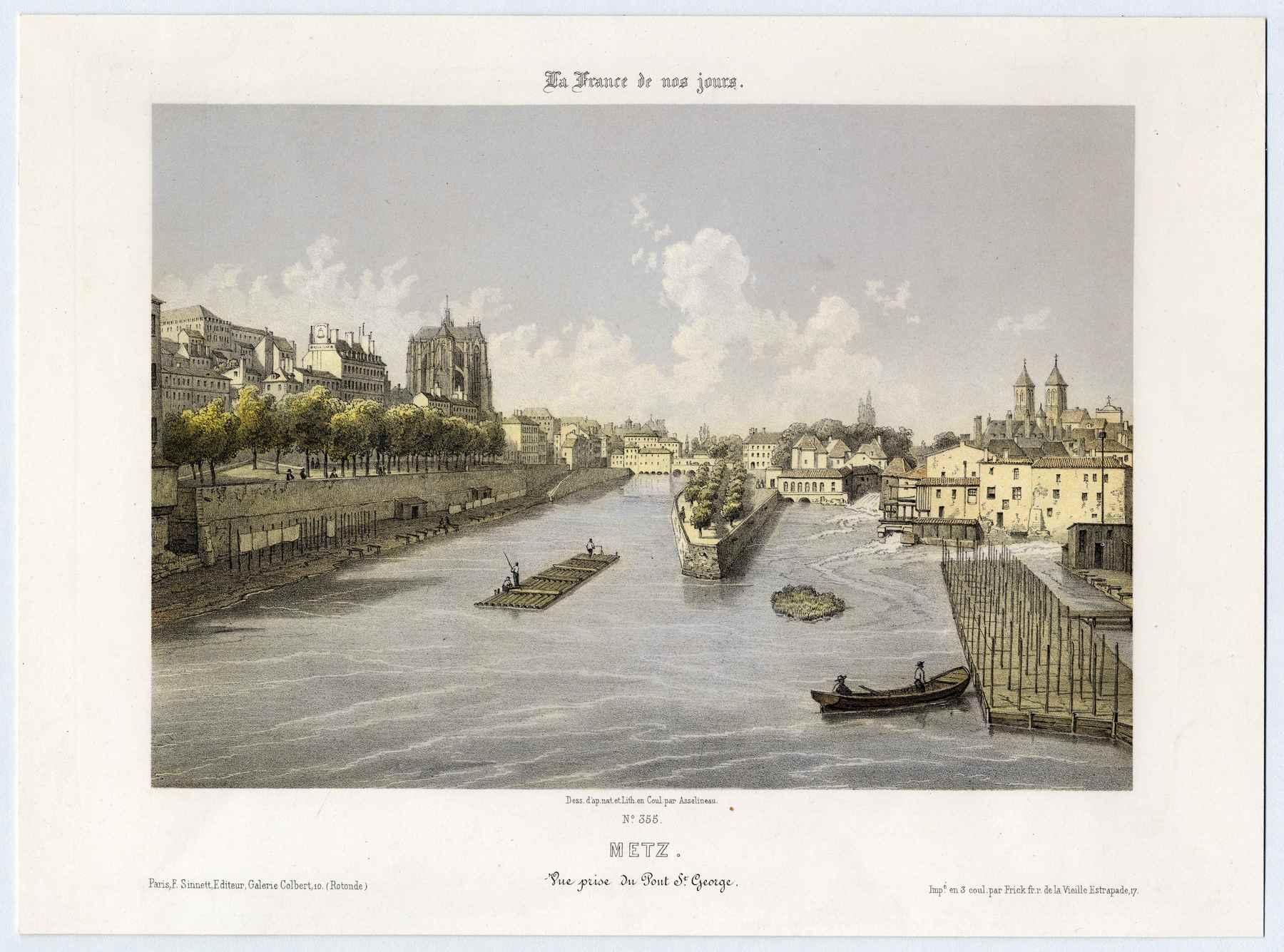 Contenu du La France de nos jours: Metz : vue prise du pont Saint-Georges
