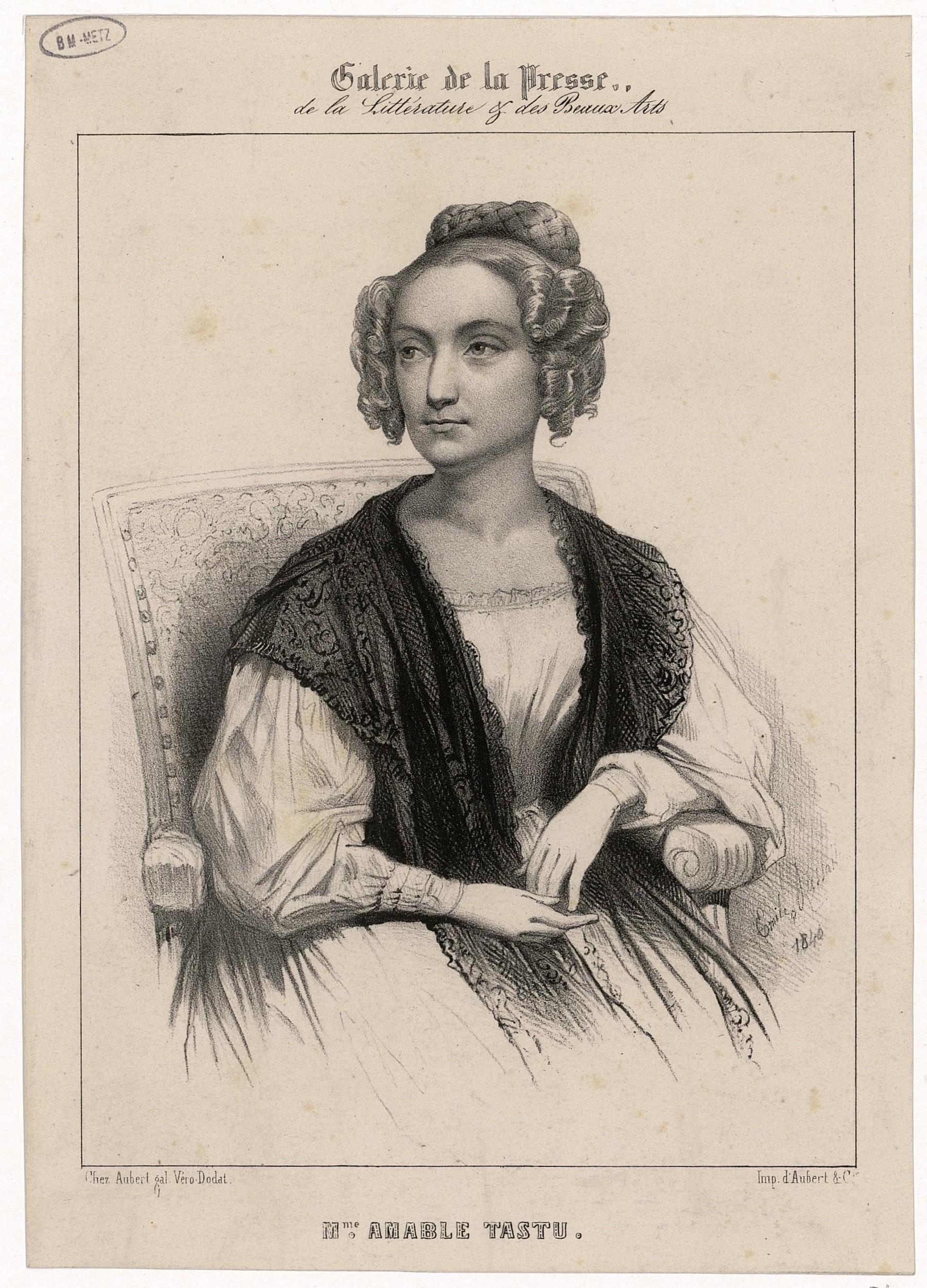 Contenu du Mme Amable Tastu , femme de lettres née à Metz en 1795