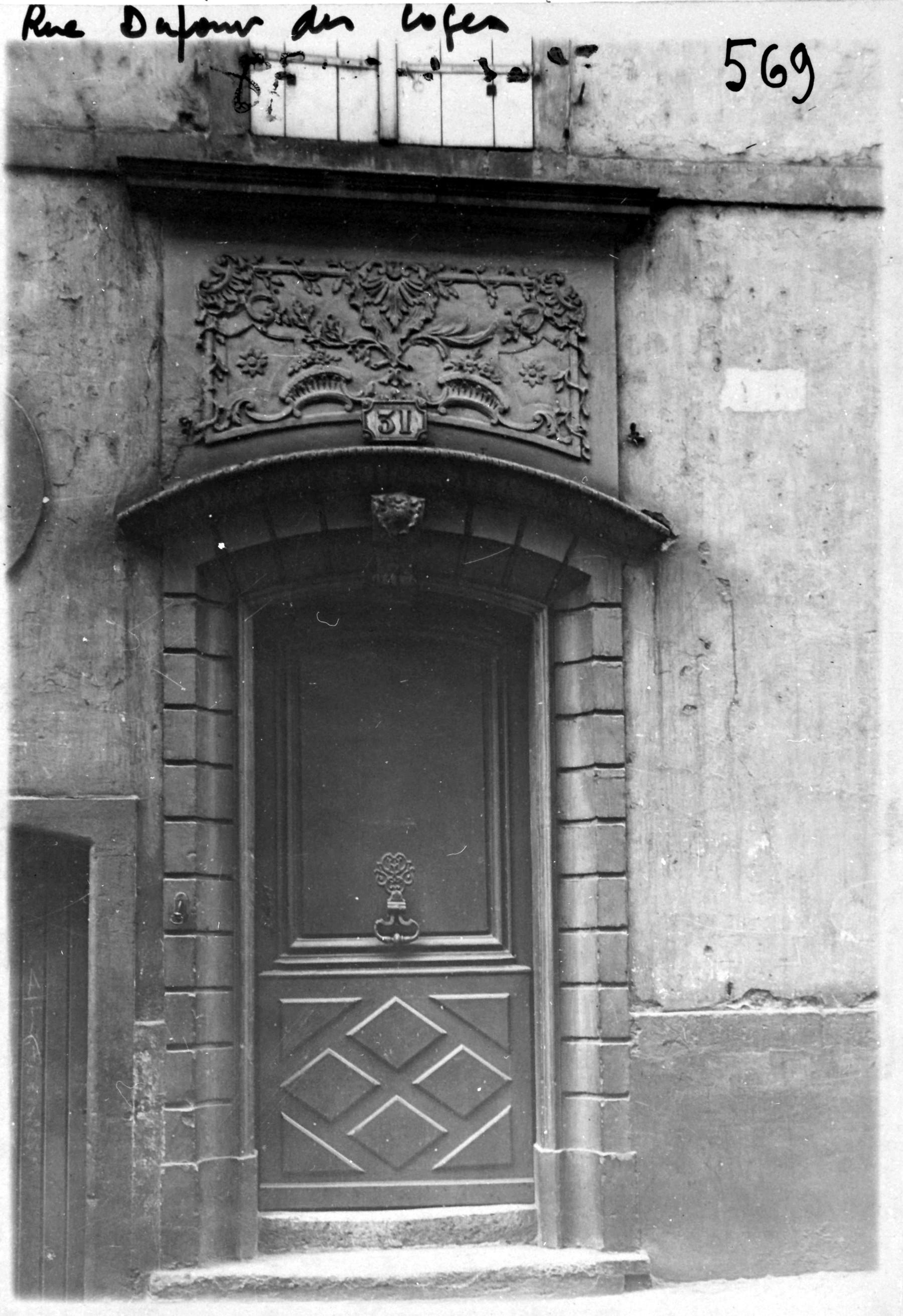 Contenu du Porte rue Dupont des Loges