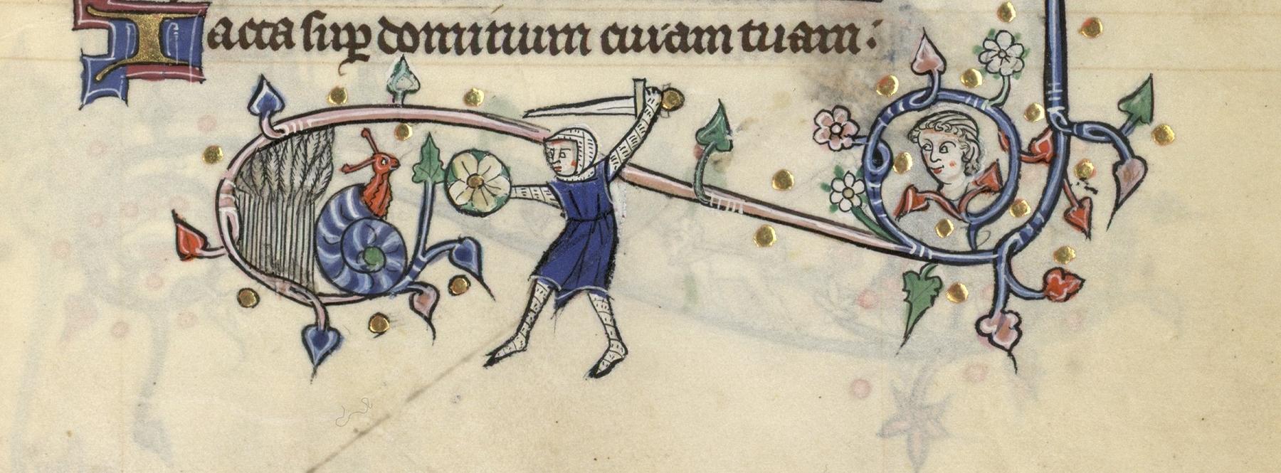 Contenu du Un chevalier combat un escargot
