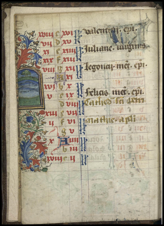 Contenu du Enluminure représentant le signe du zodiaque du Poisson