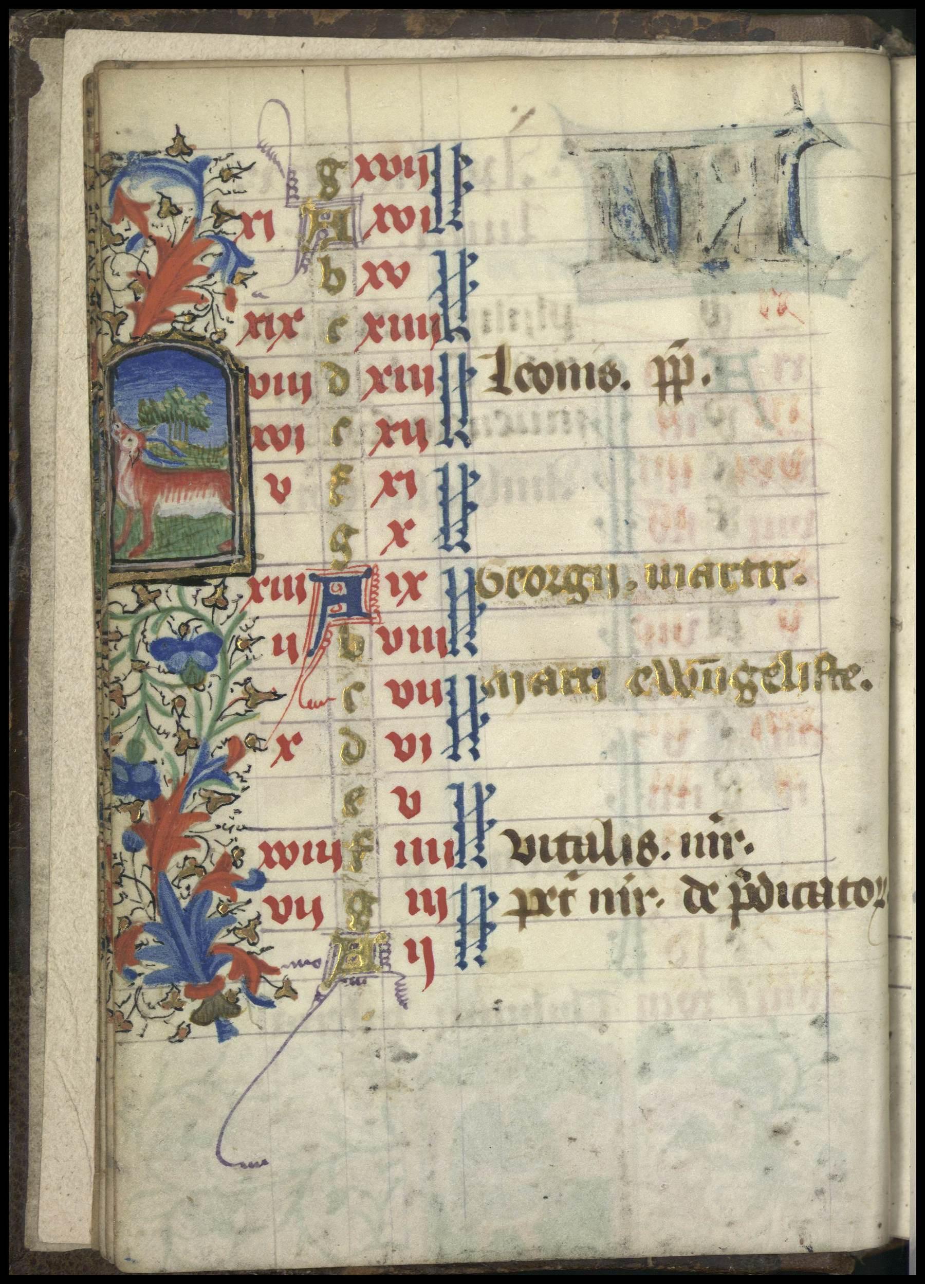 Contenu du Enluminure représentant le signe du zodiaque du Taureau