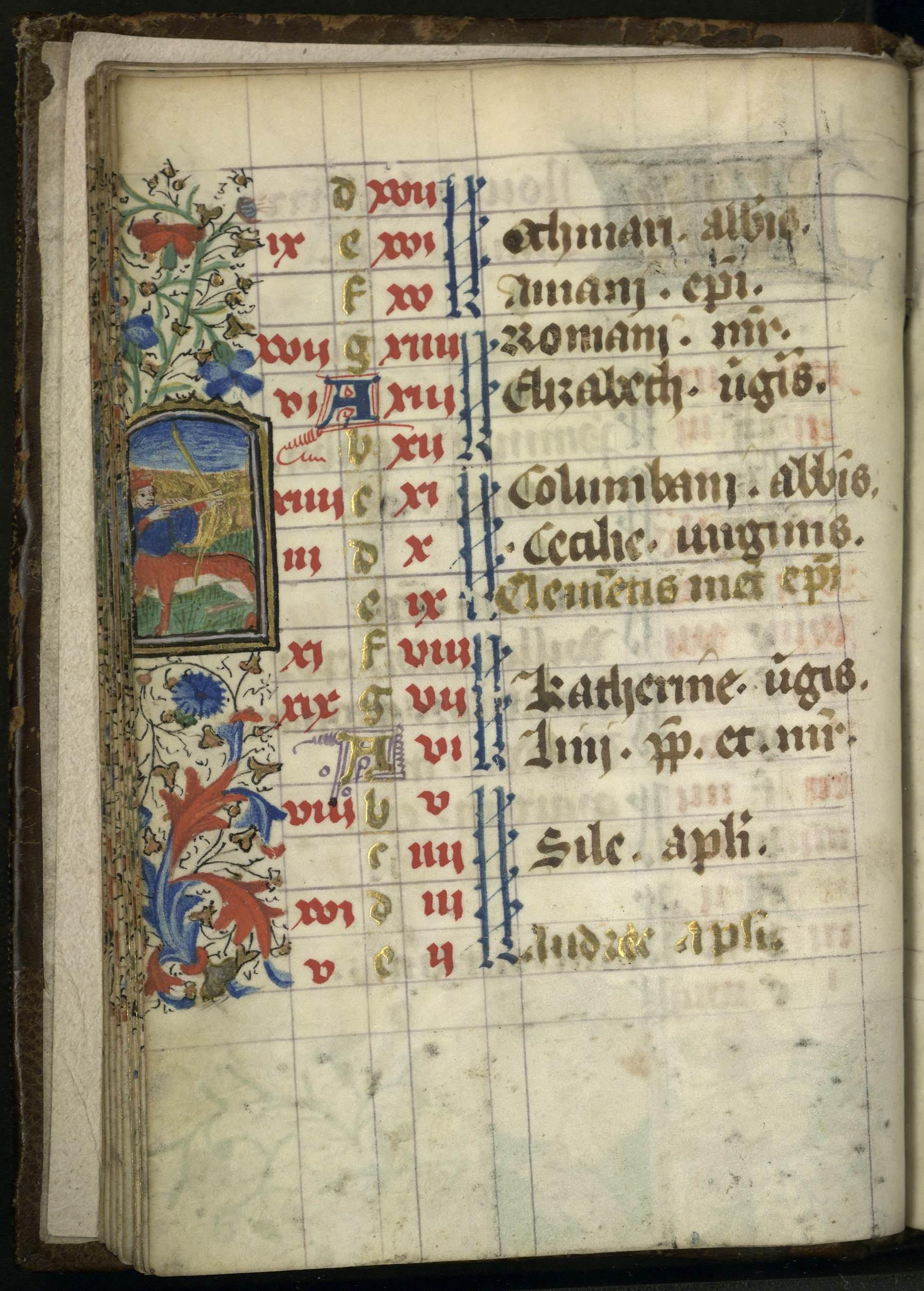 Contenu du Enluminure représentation le signe du zodiaque du Sagittaire
