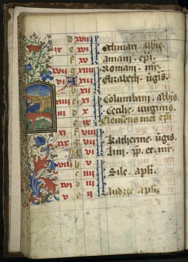 Contenu du Le calendrier dans les livres d'heures