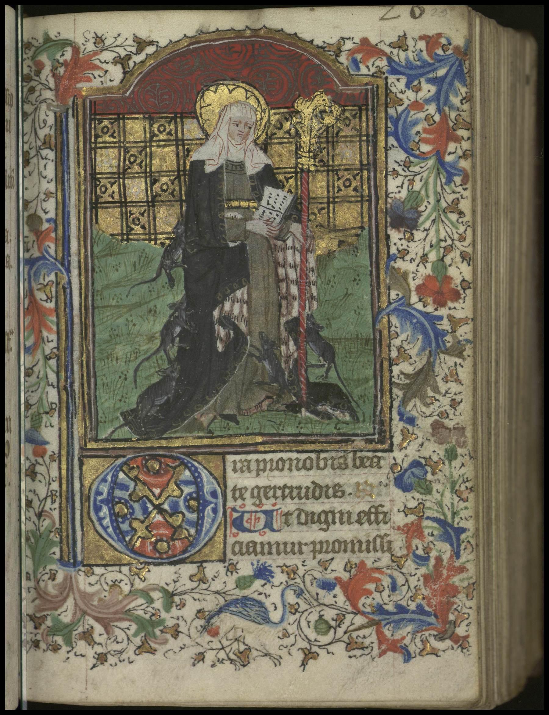 Contenu du [Sainte Gertrude]