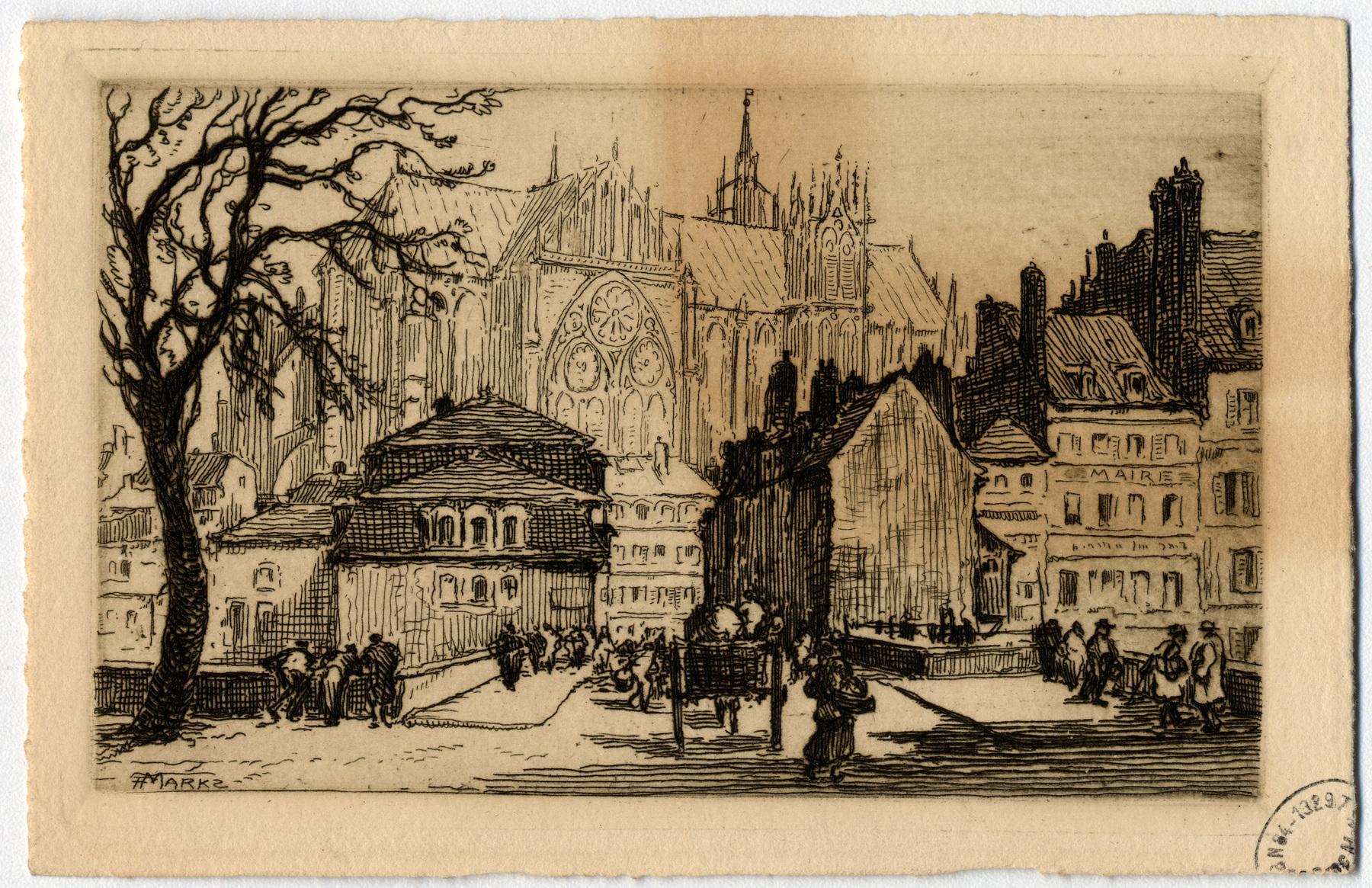 Contenu du La cathédrale Saint-Étienne vue depuis la place de la Préfecture