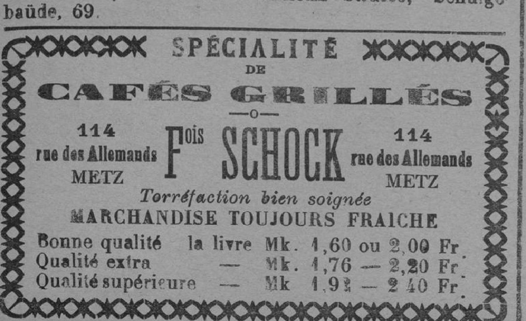 Contenu du Spécialité de cafés grillés - François Schock