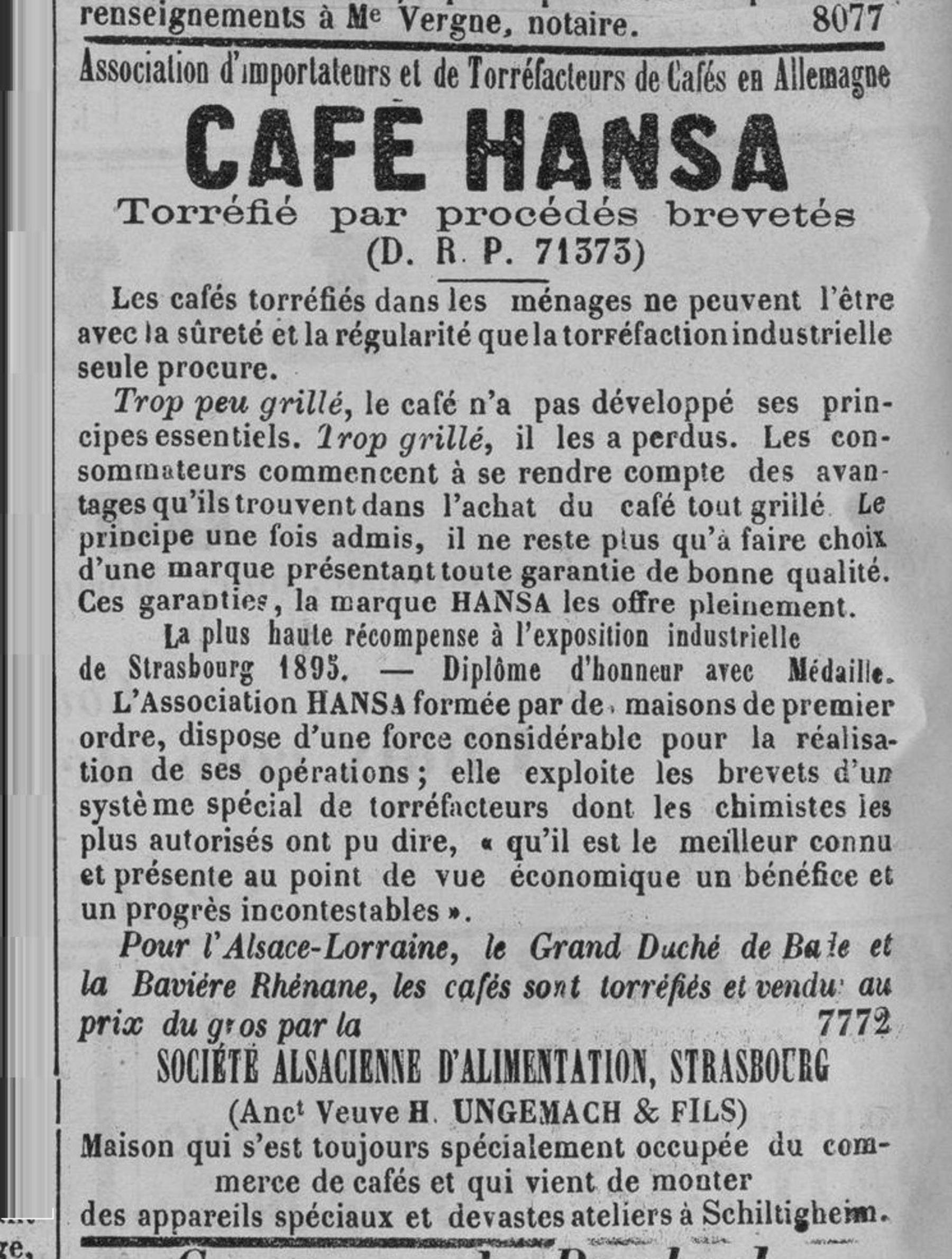 Contenu du Café Hansa