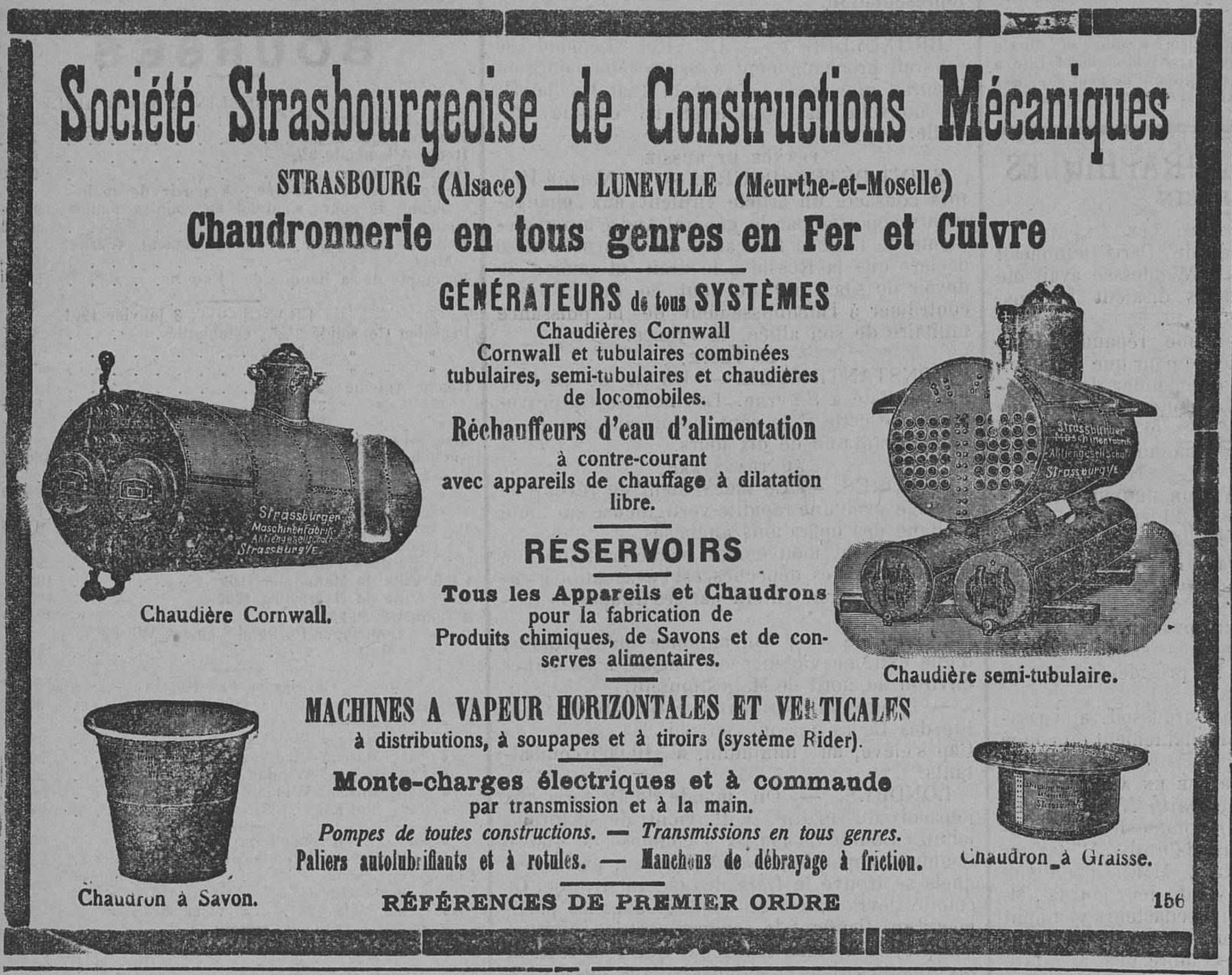 Contenu du Chaudronnerie en tous genres en fer et cuivre, générateurs de tous systèmes, réservoirs, machine à vapeur