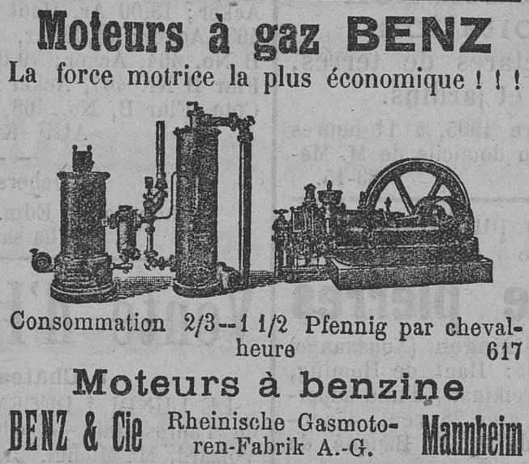 Contenu du Moteurs à gaz Benz