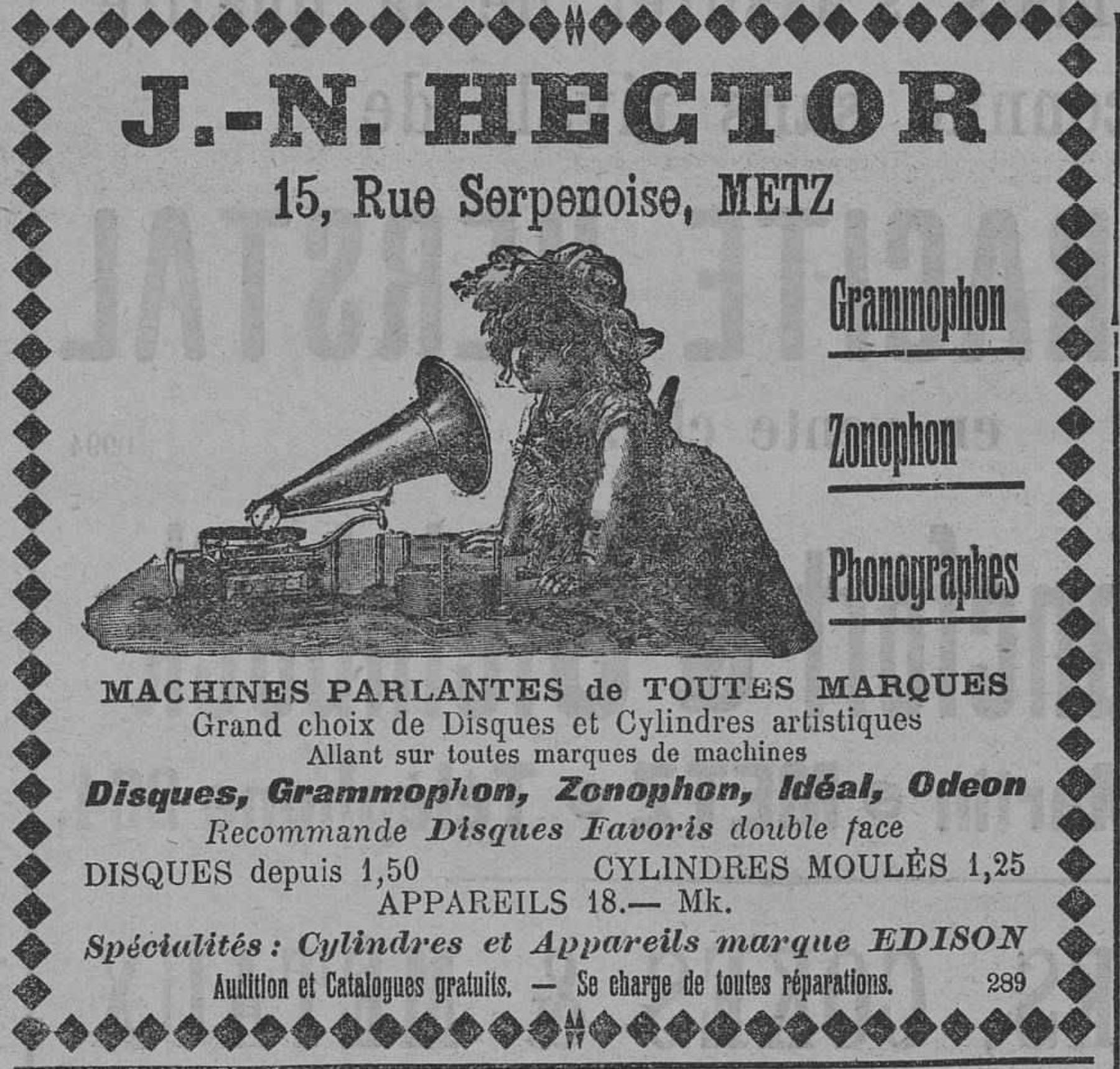 Contenu du Grammophon, Zonophon, Phonographes, machines parlantes de toutes marques